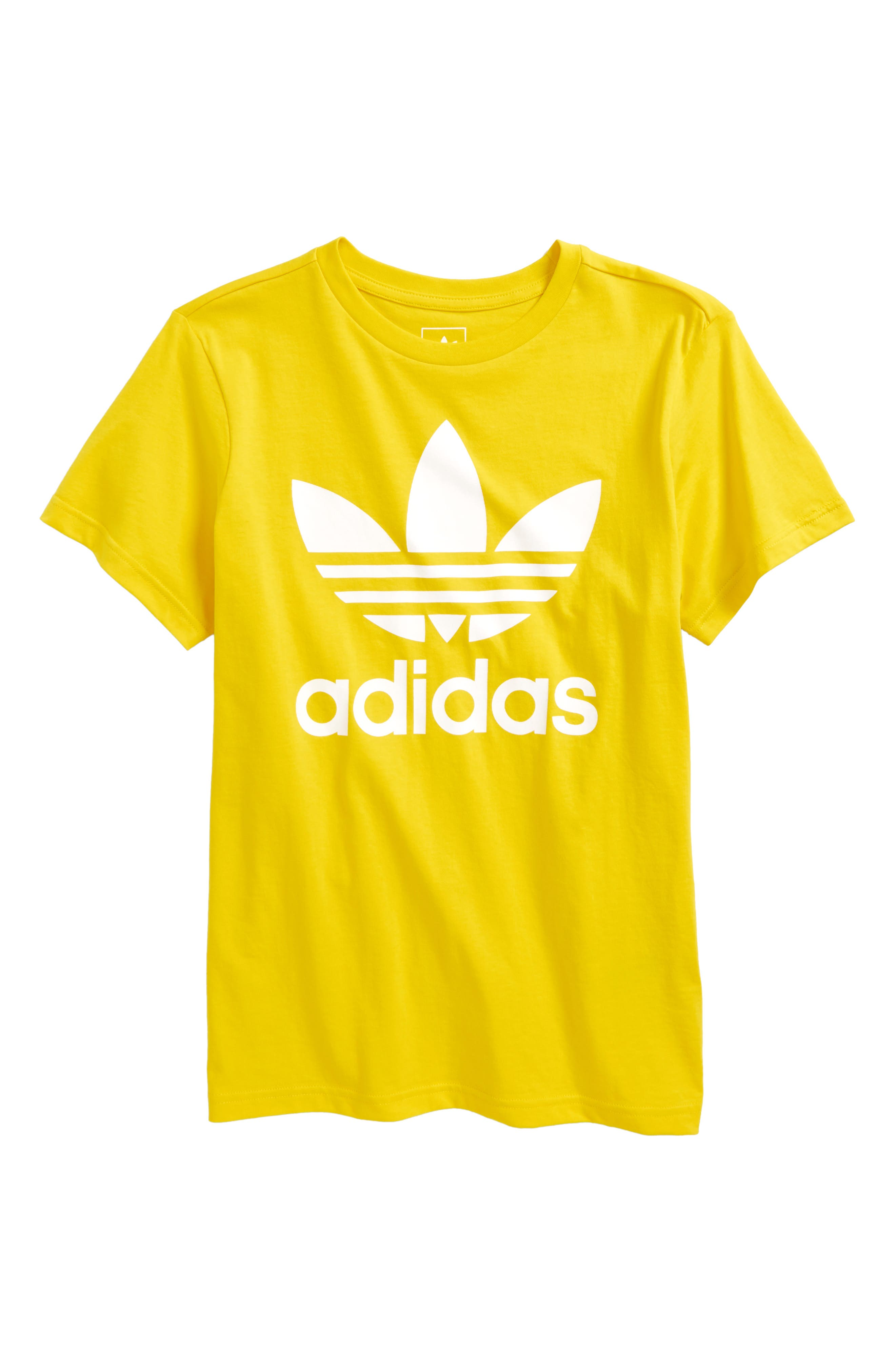 Main Image - adidas Trefoil Logo Graphic Tee (Big Girls)