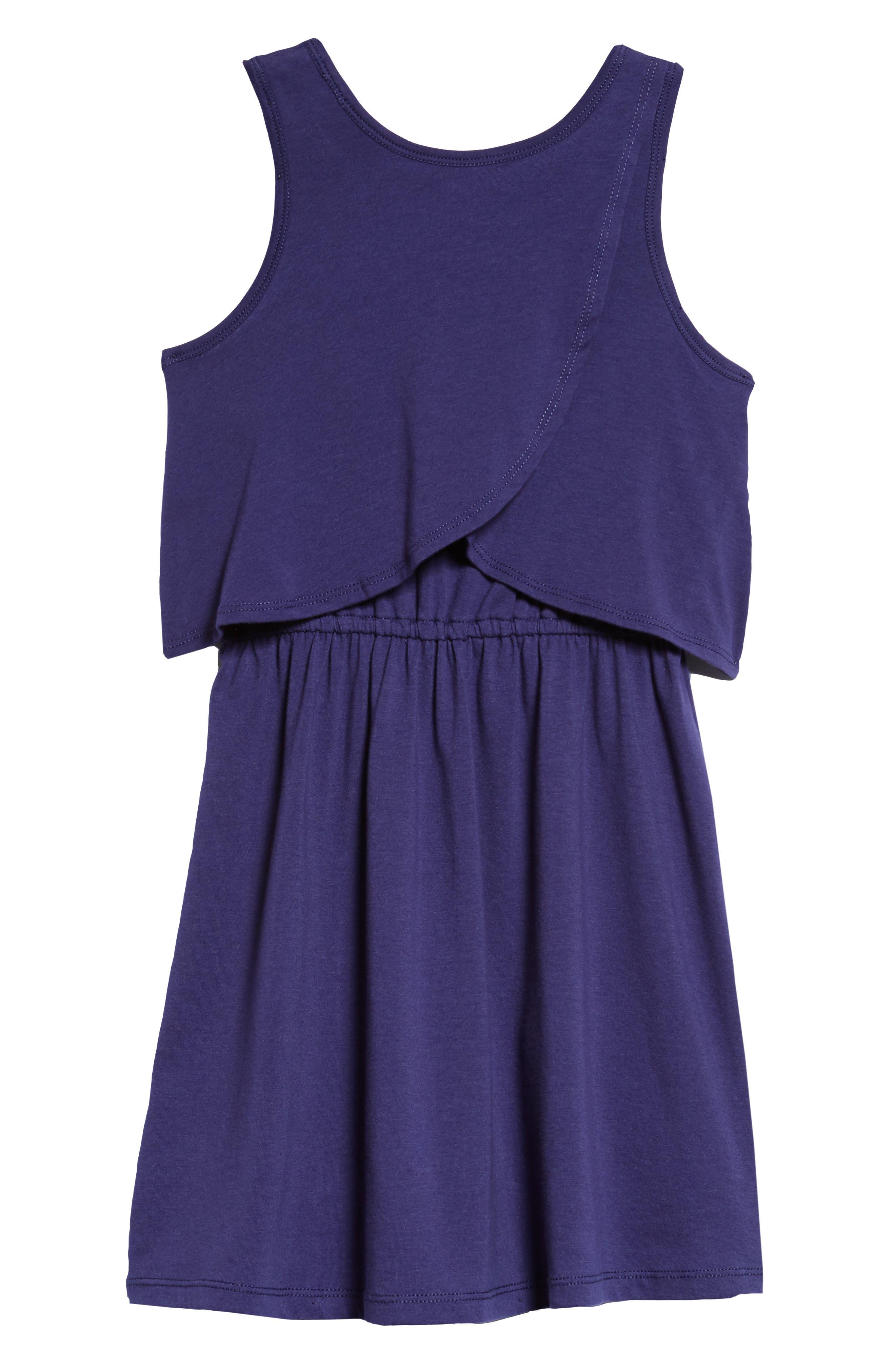 Popover Knit Tank Dress,                             Alternate thumbnail 2, color,                             Navy Ribbon