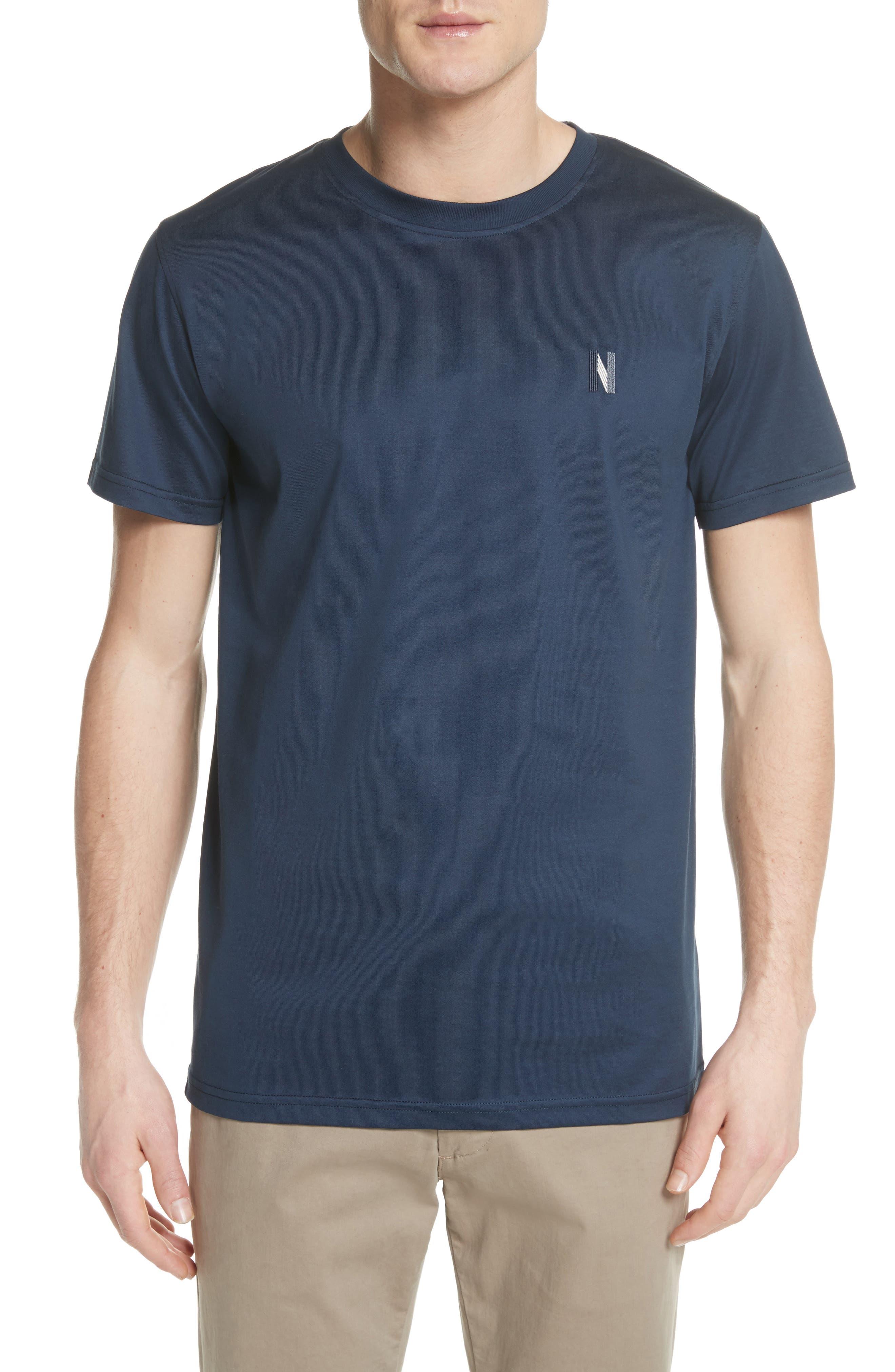 Niels N-Logo T-Shirt,                         Main,                         color, Dark Navy