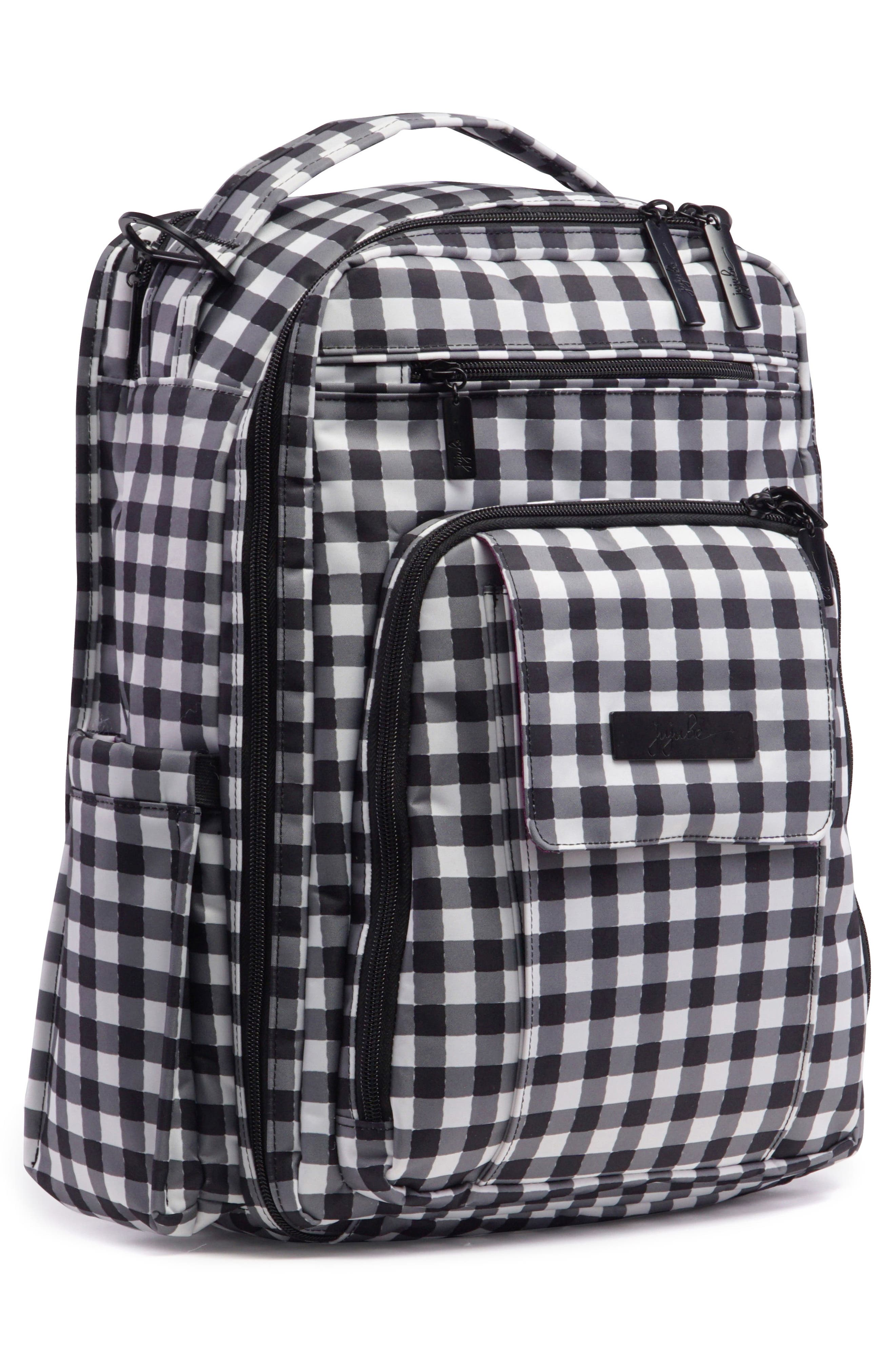'Be Right Back - Onyx Collection' Diaper Backpack,                             Alternate thumbnail 2, color,                             Gingham Style