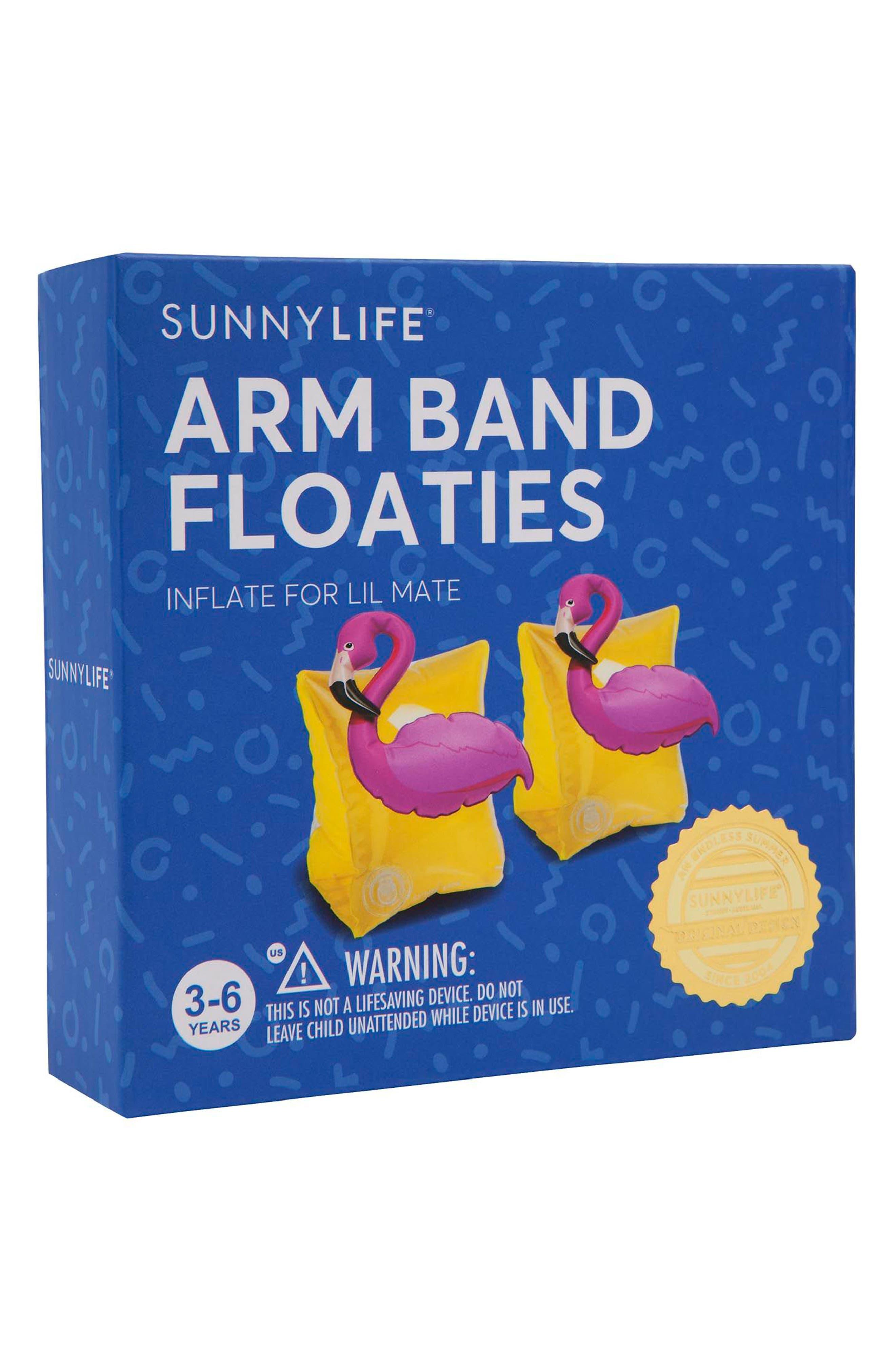 Set of 2 Flamingo Armband Floaties,                             Alternate thumbnail 2, color,                             Yellow
