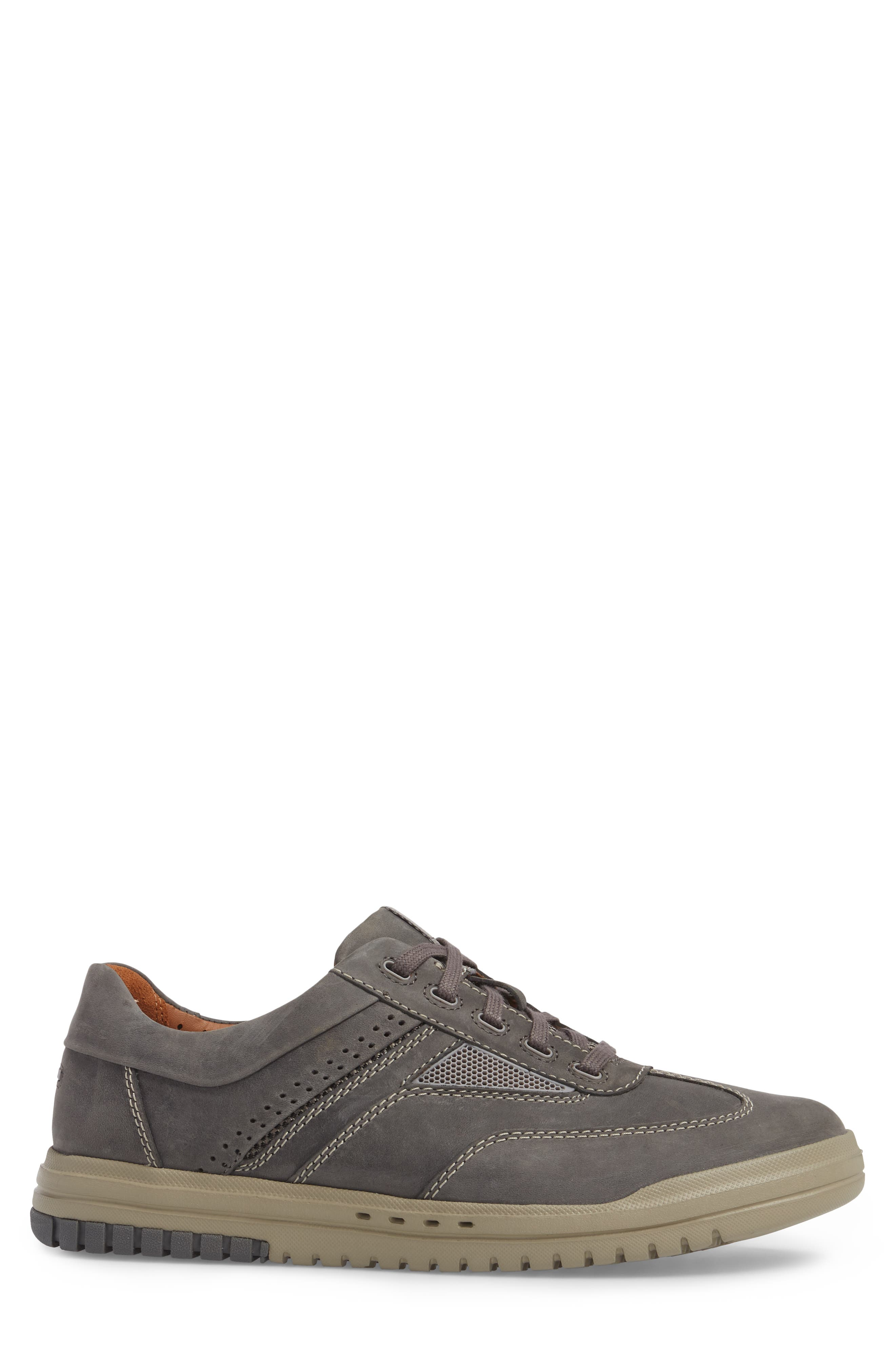 Unrhombus Low Top Sneaker,                             Alternate thumbnail 3, color,                             Dark Grey Leather