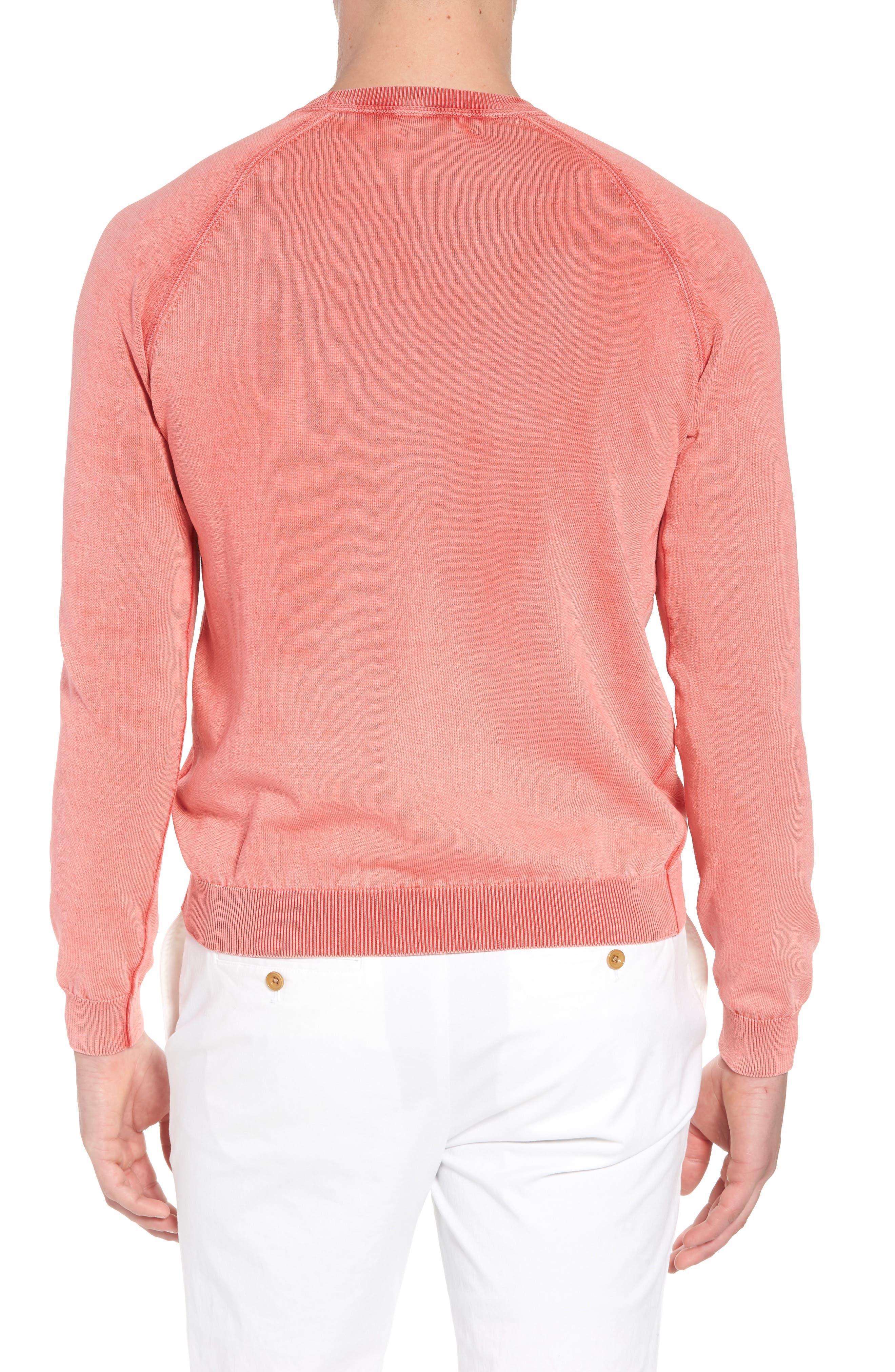 Stonewash Cotton Sweatshirt,                             Alternate thumbnail 2, color,                             Washed Coral