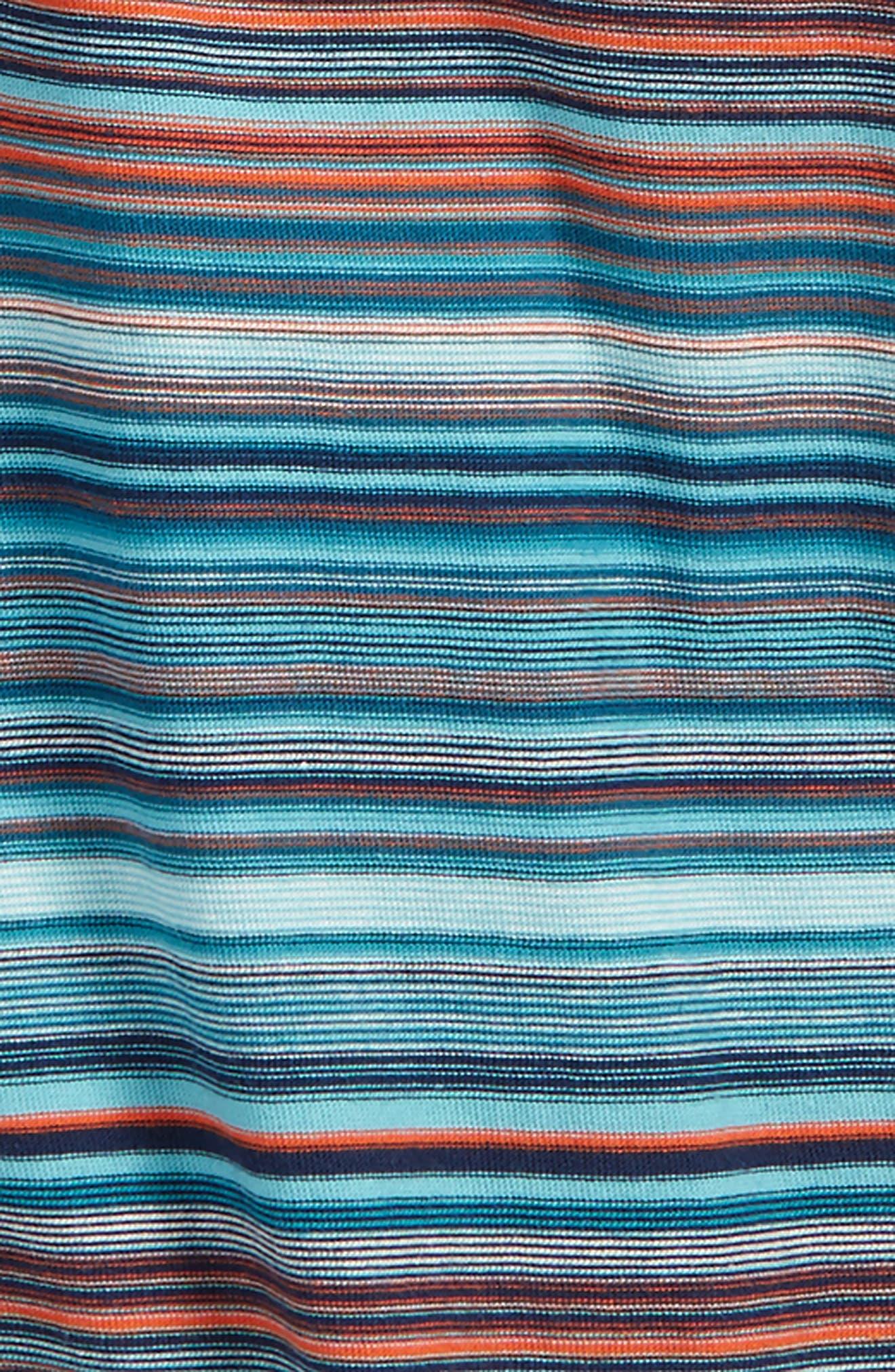 Stripe Polo,                             Alternate thumbnail 2, color,                             Pagoda Blue