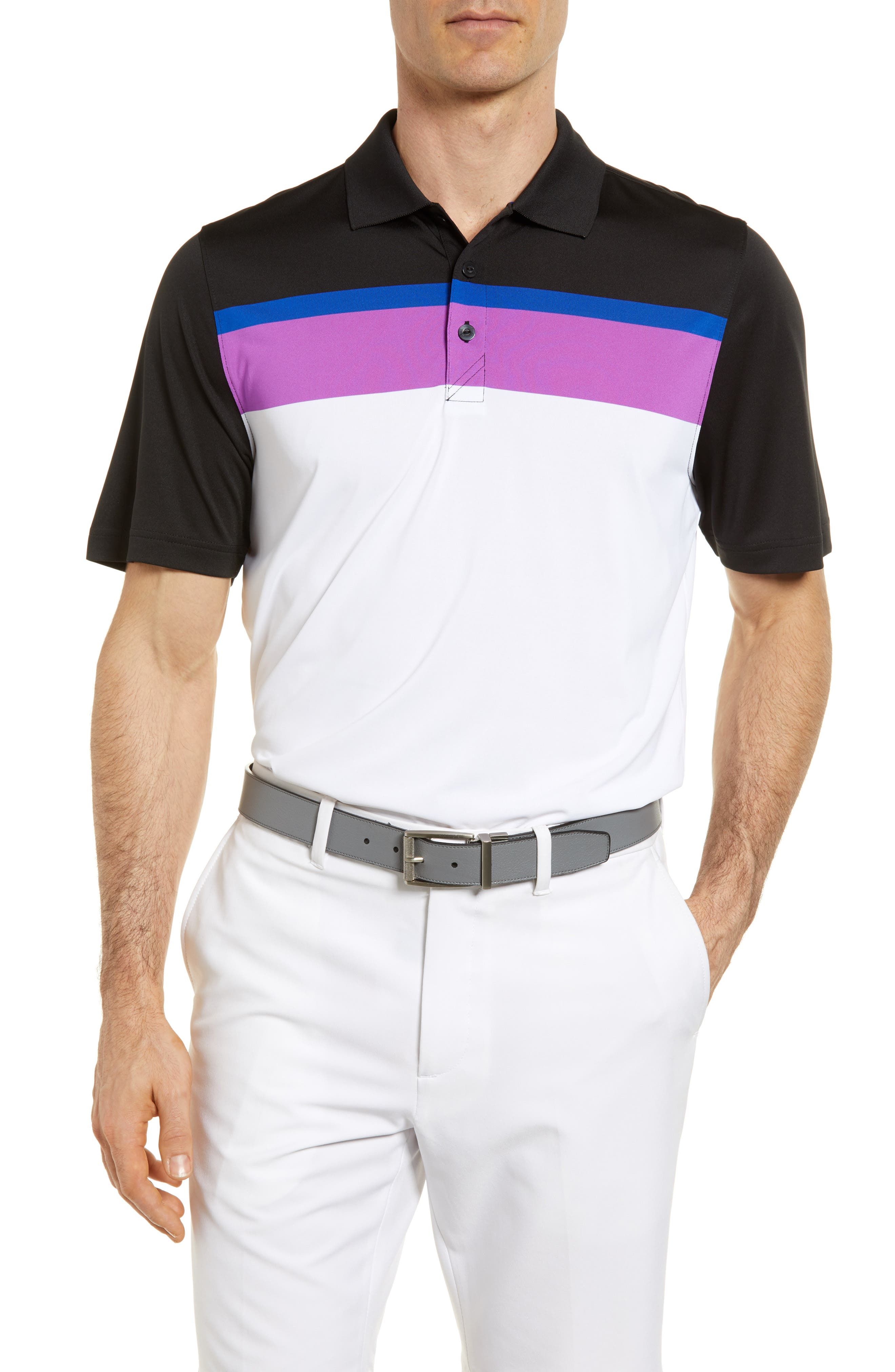 Cutter & Buck Hugh Stripe DryTec Jersey Polo