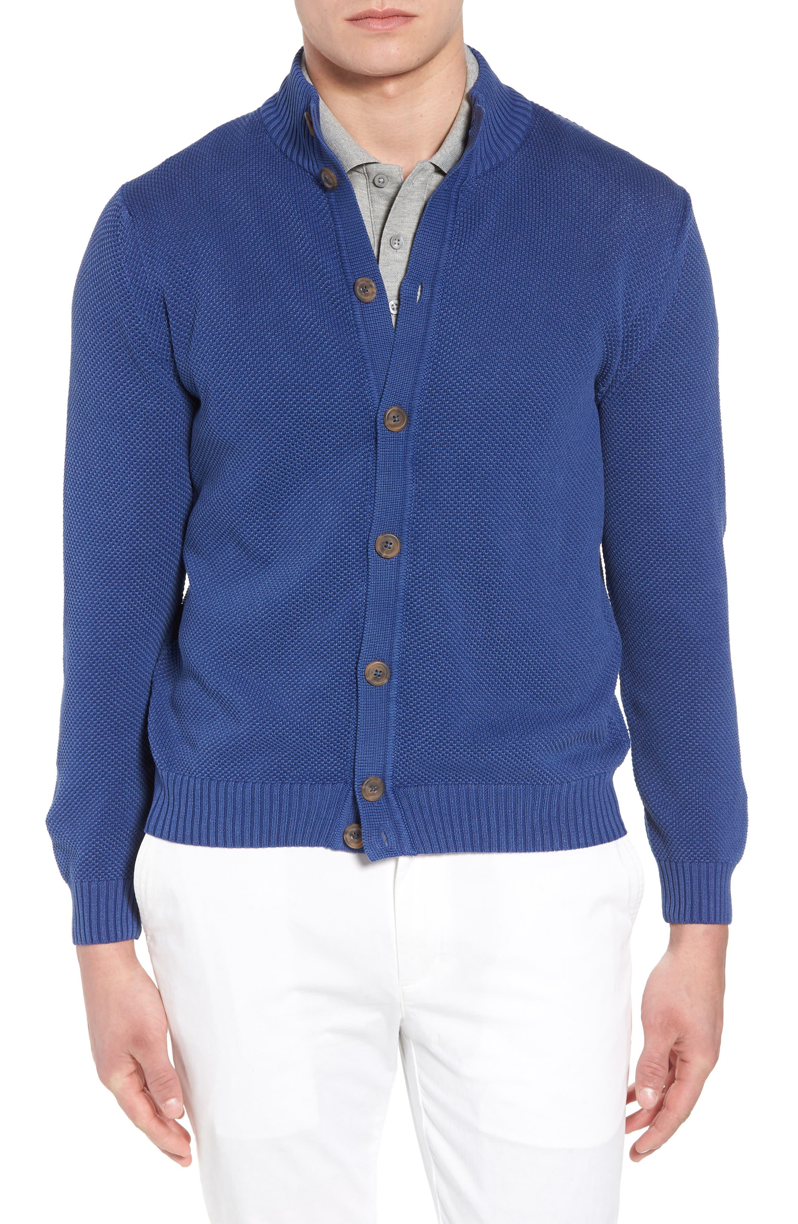 Stonewash Cotton Cardigan,                         Main,                         color, Washed Navy
