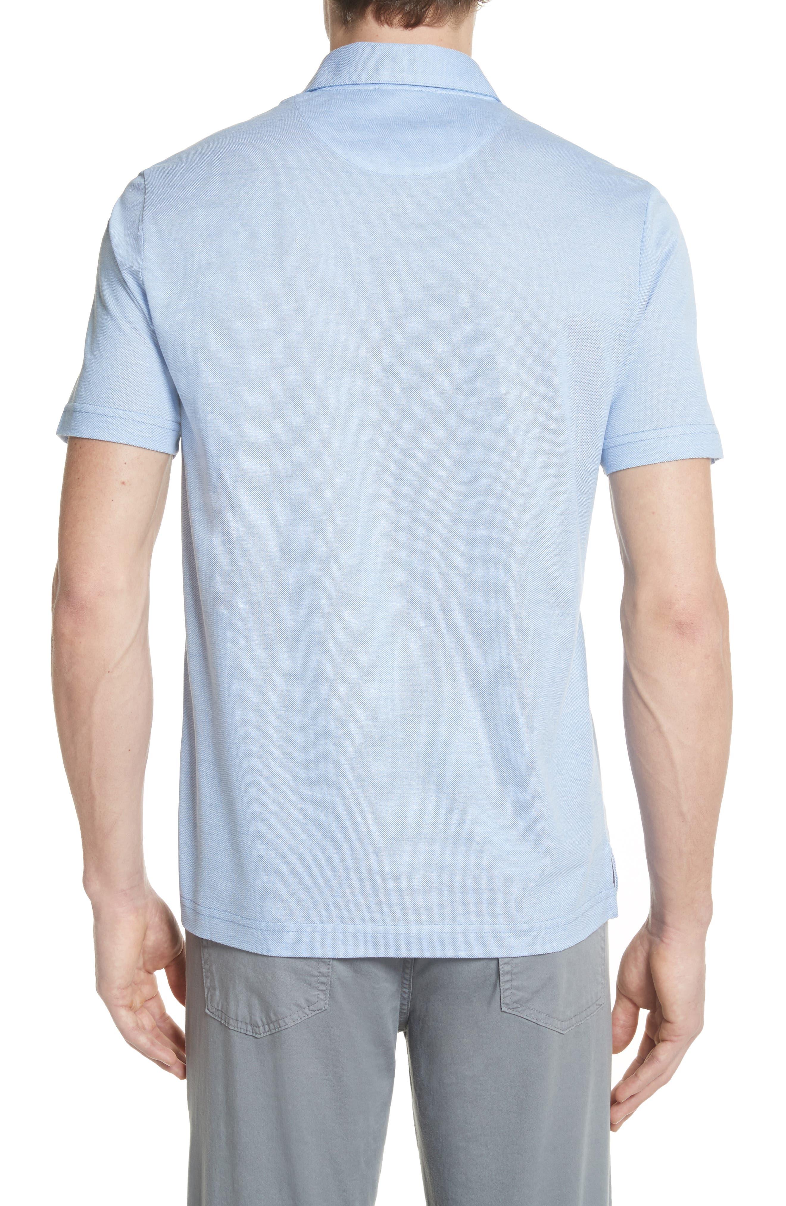 Piqué Polo Shirt,                             Alternate thumbnail 2, color,                             Sky Blue
