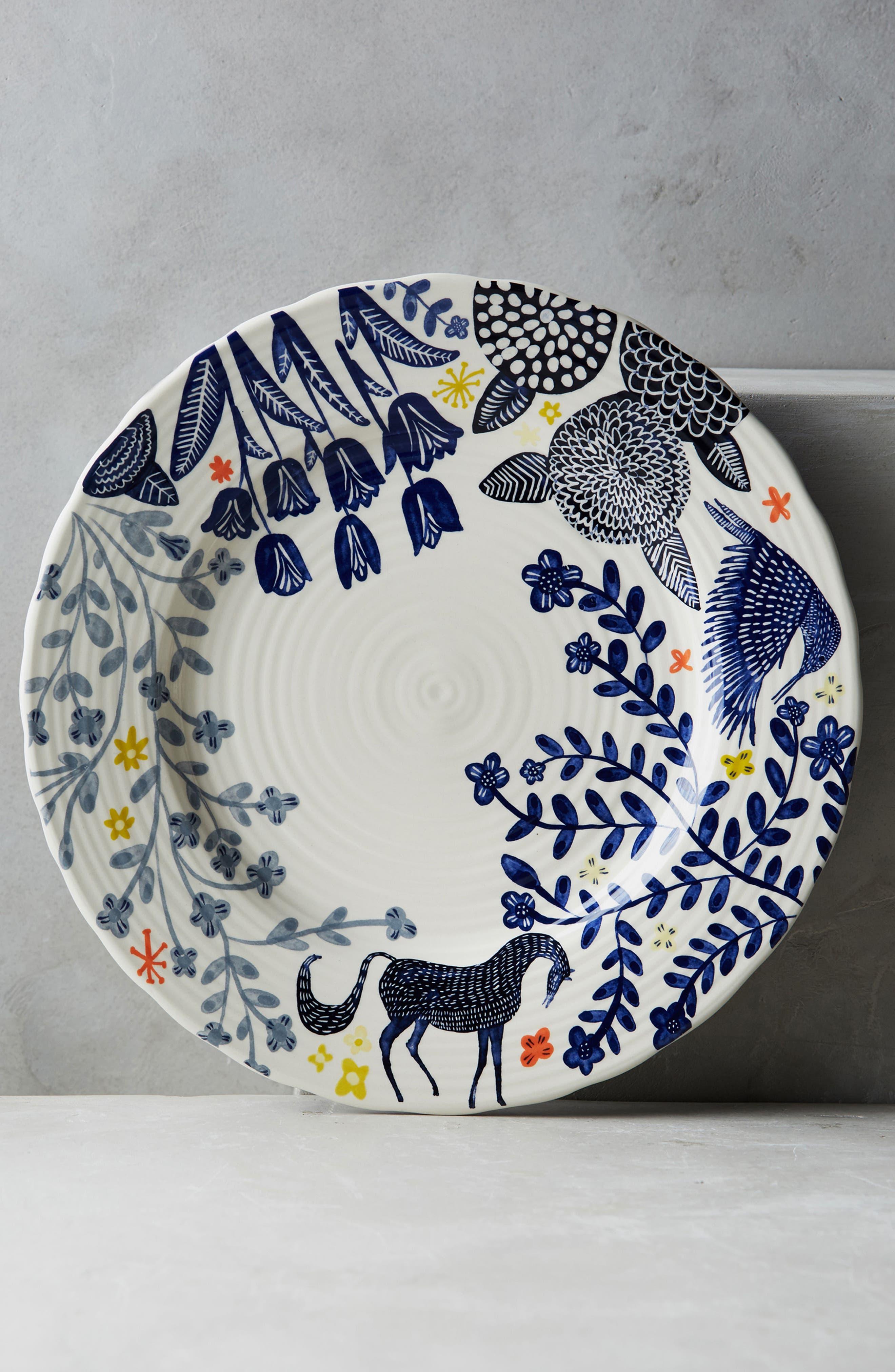Saga Dinner Plate,                             Main thumbnail 1, color,                             Dark Blue