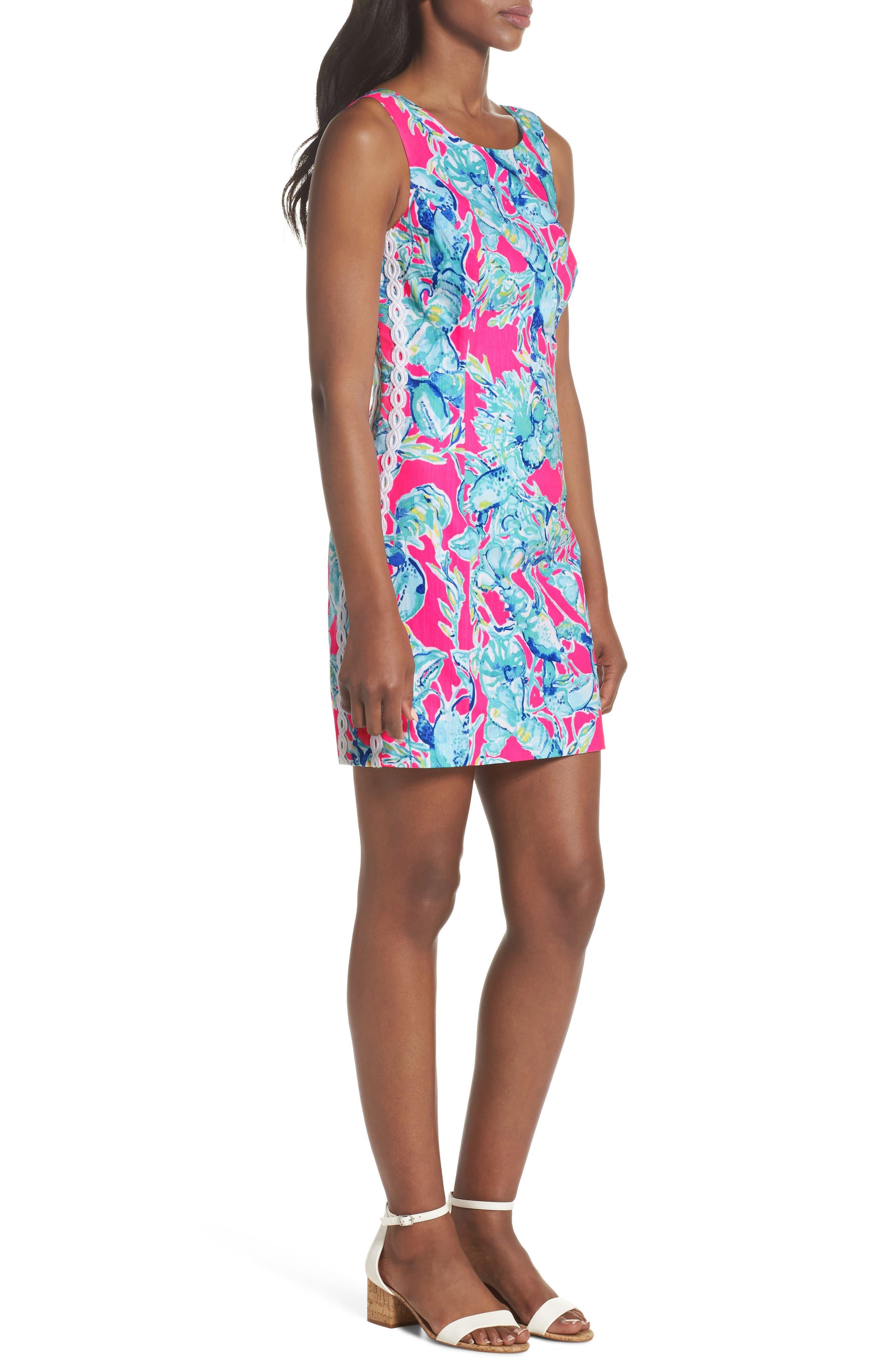 Mila Sheath Dress,                             Alternate thumbnail 3, color,                             Raz Berry Lobsters In Love