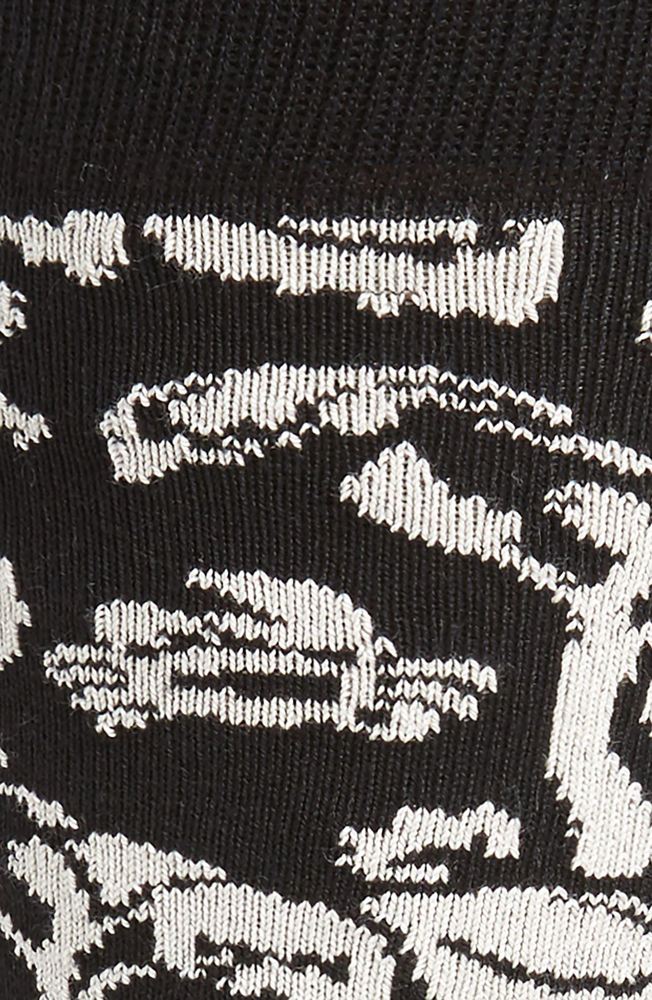 Crab Palm Socks,                             Alternate thumbnail 2, color,                             Black