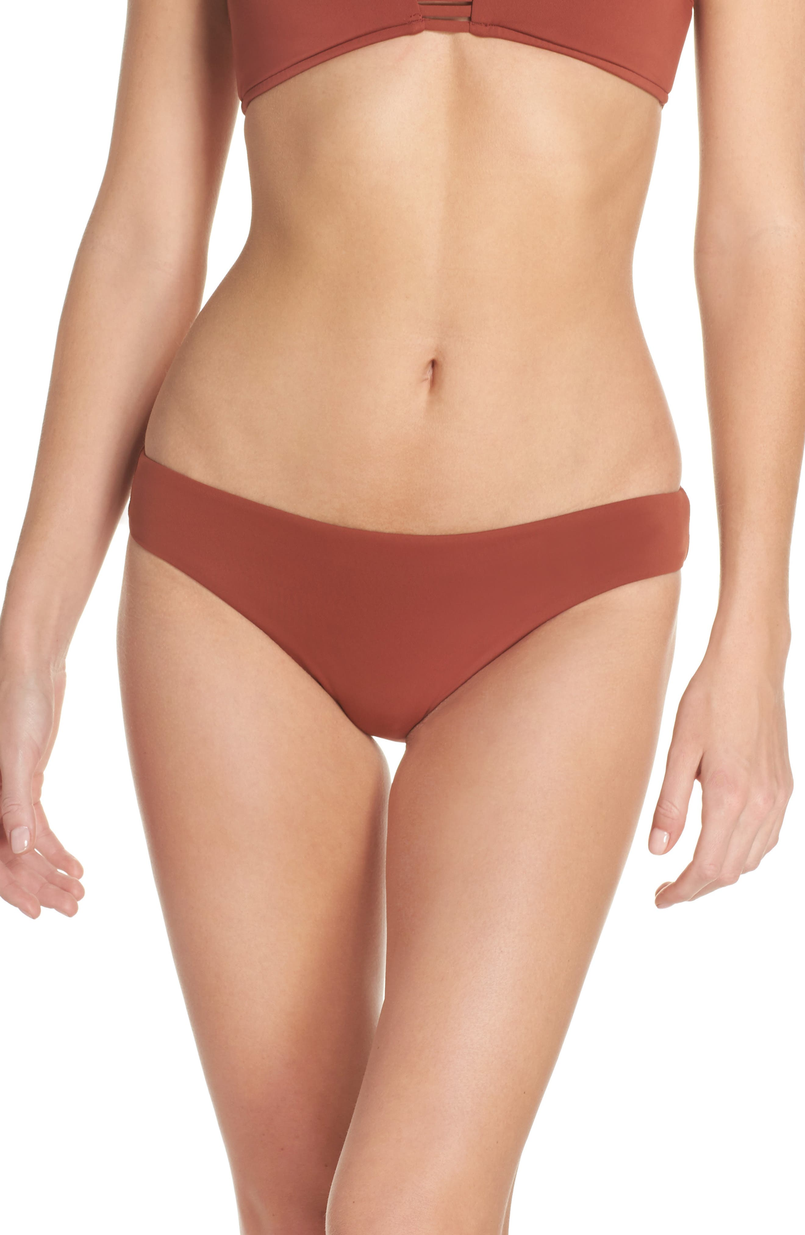 Active Bikini Bottoms,                             Main thumbnail 1, color,                             Burnt Amber