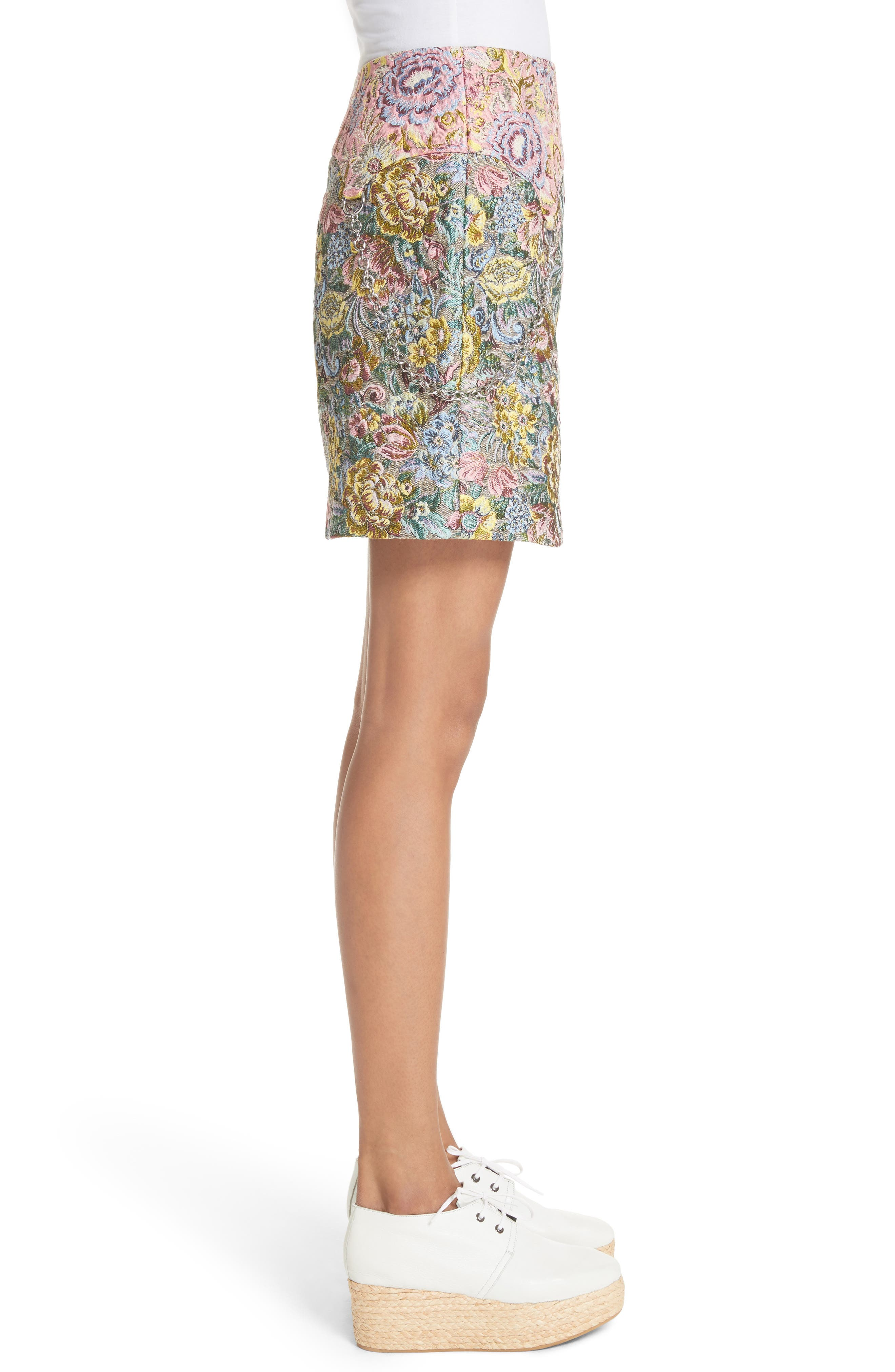 Chatham Brocade Miniskirt,                             Alternate thumbnail 3, color,                             Couch