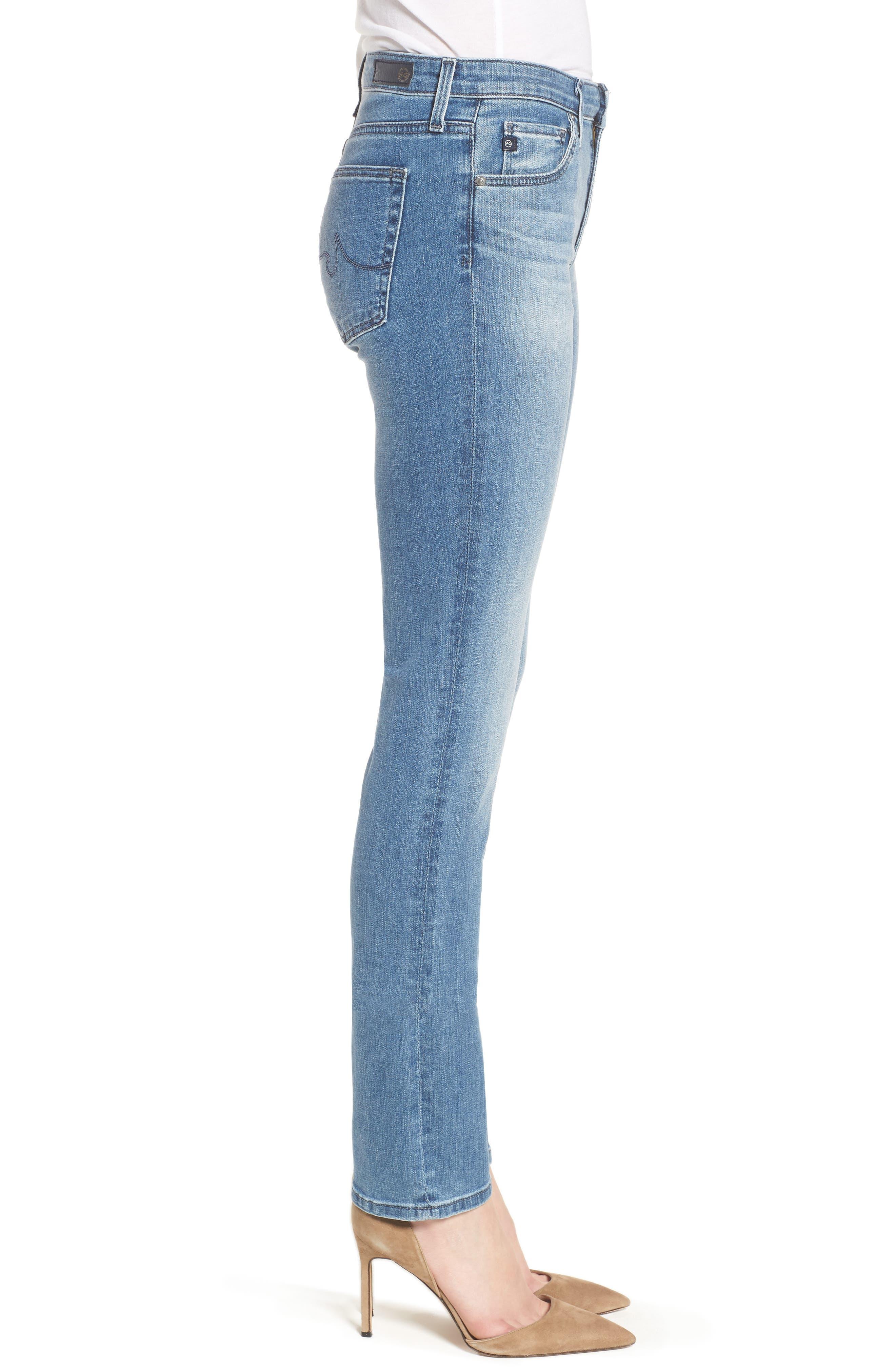Harper Slim Straight Leg Jeans,                             Alternate thumbnail 3, color,                             Sea Sprite