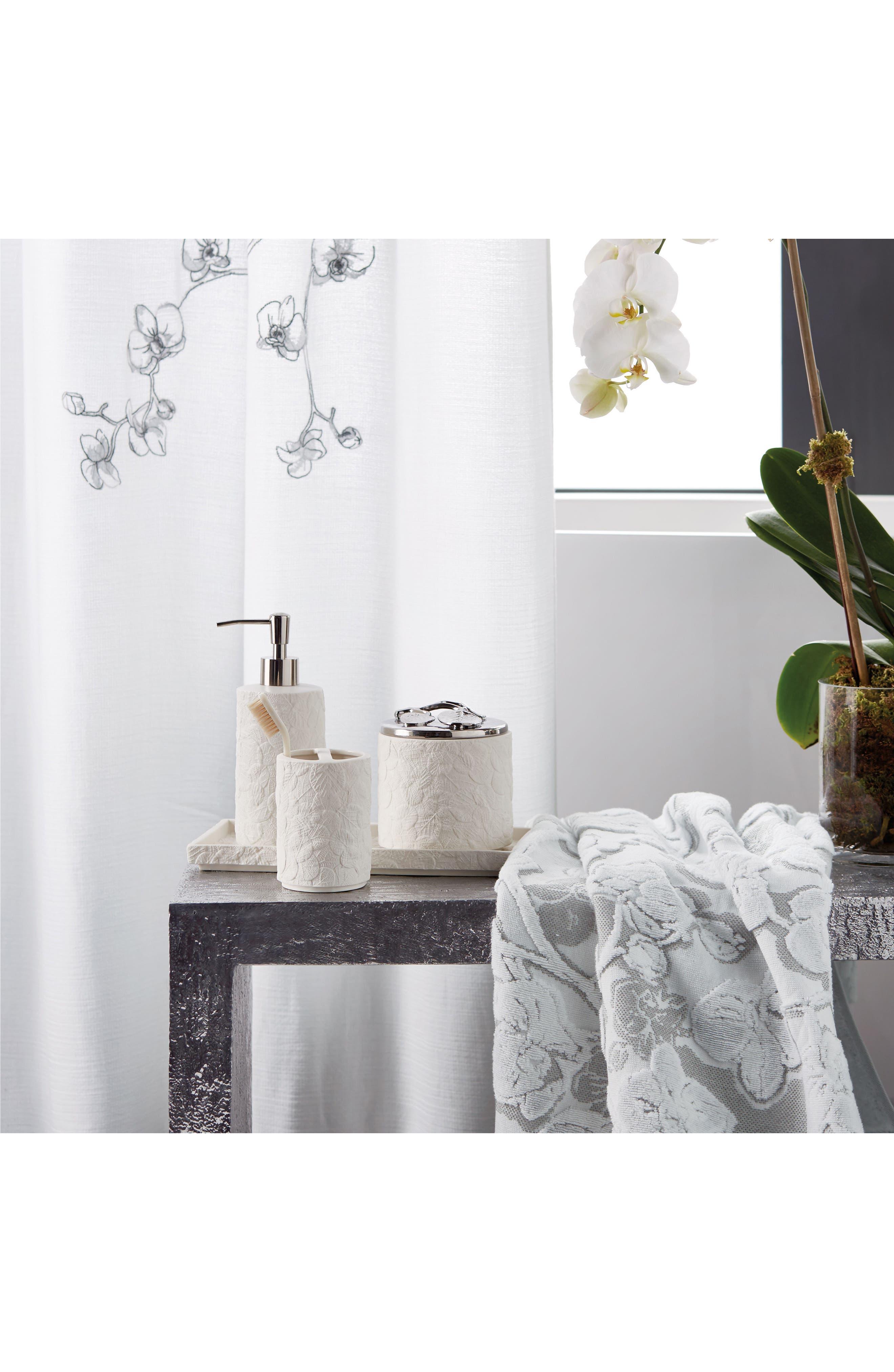 Orchid Bath Towel,                             Alternate thumbnail 2, color,                             Grey