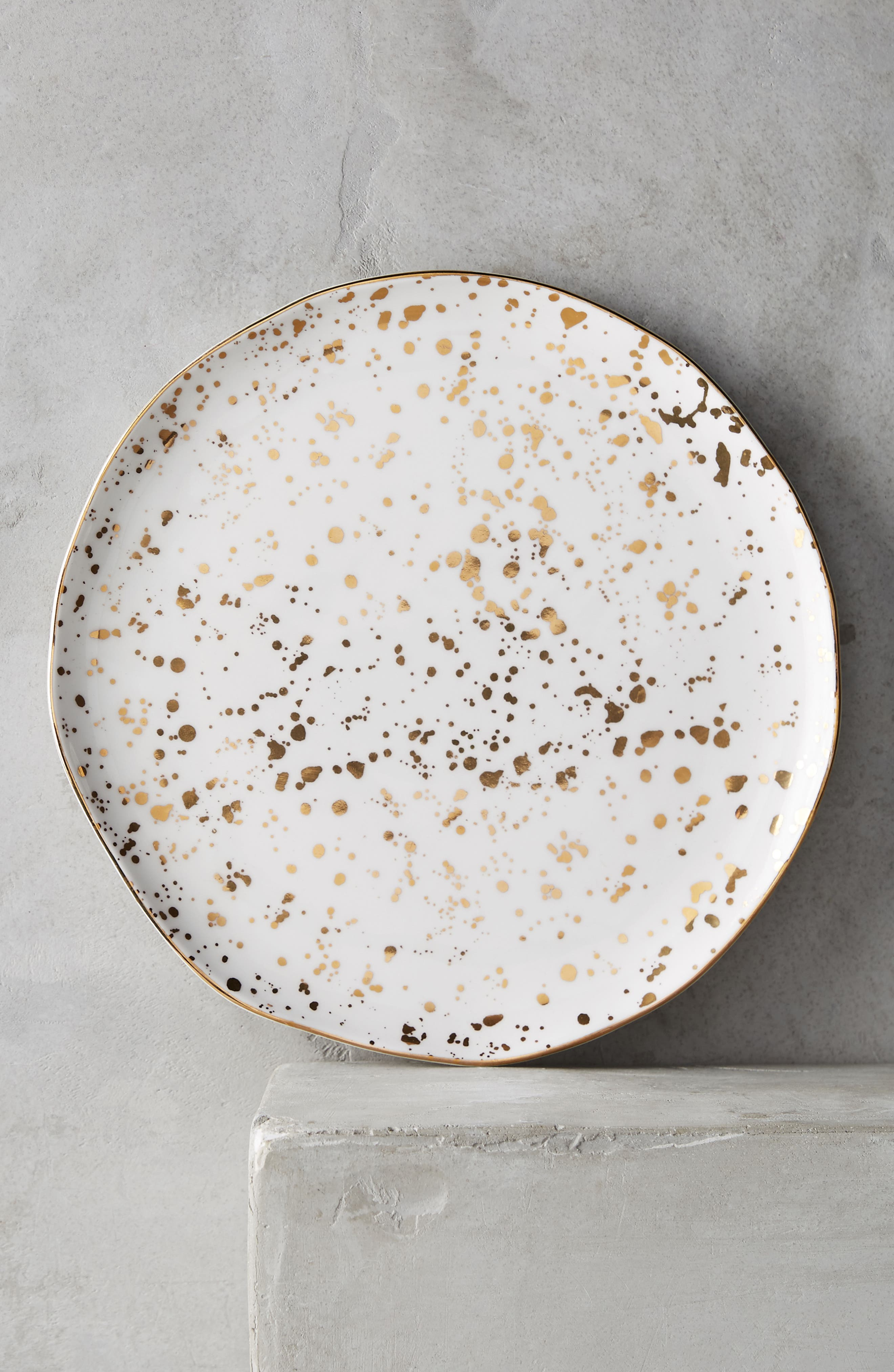 Mimira Stoneware Side Plate,                         Main,                         color, Gold