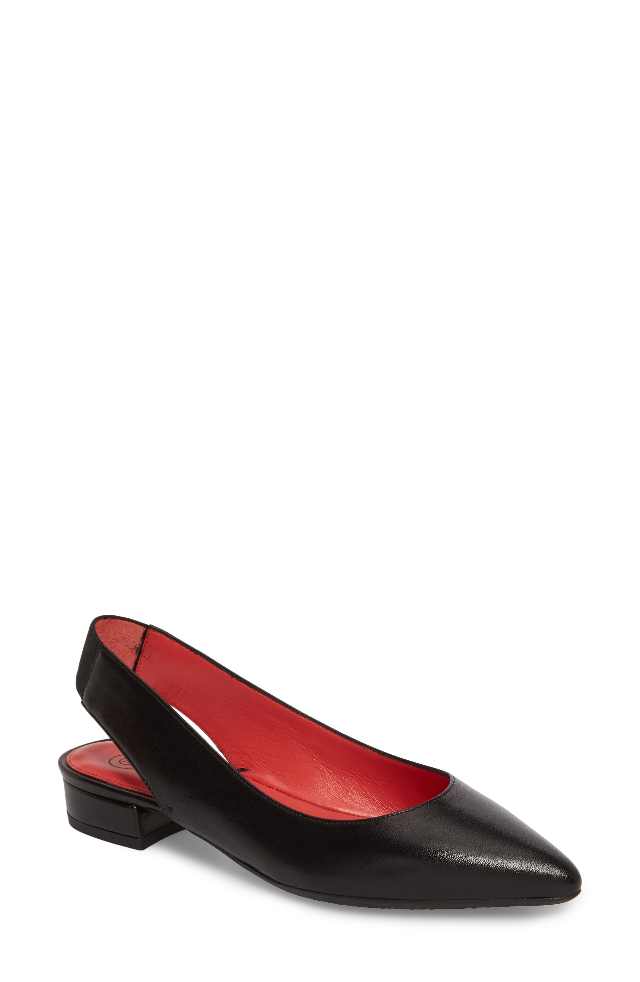 Janet Flat,                         Main,                         color, Black Leather