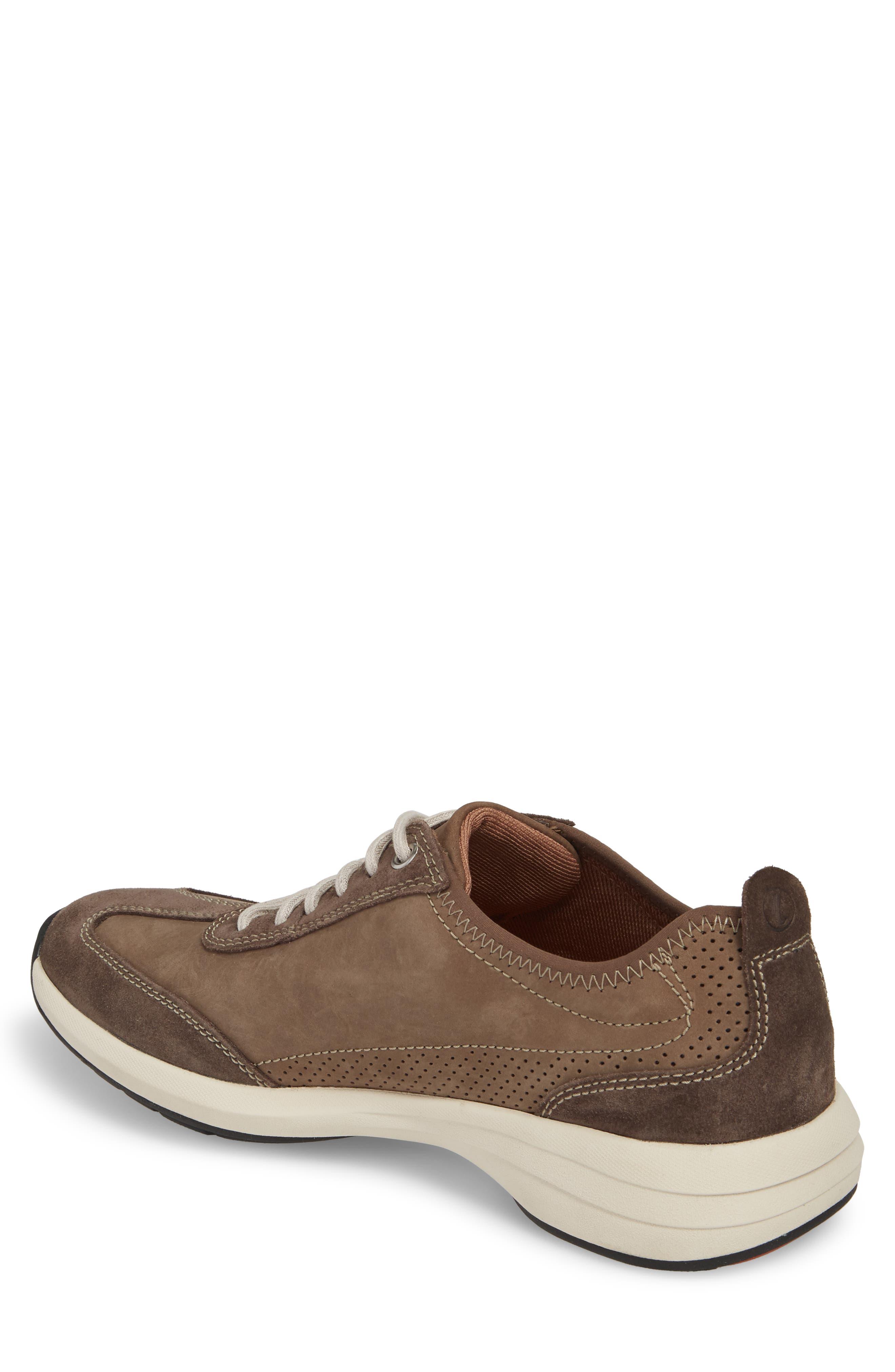Clarks<sup>®</sup> Un Coast Low Top Sneaker,                             Alternate thumbnail 2, color,                             Taupe Nubuck