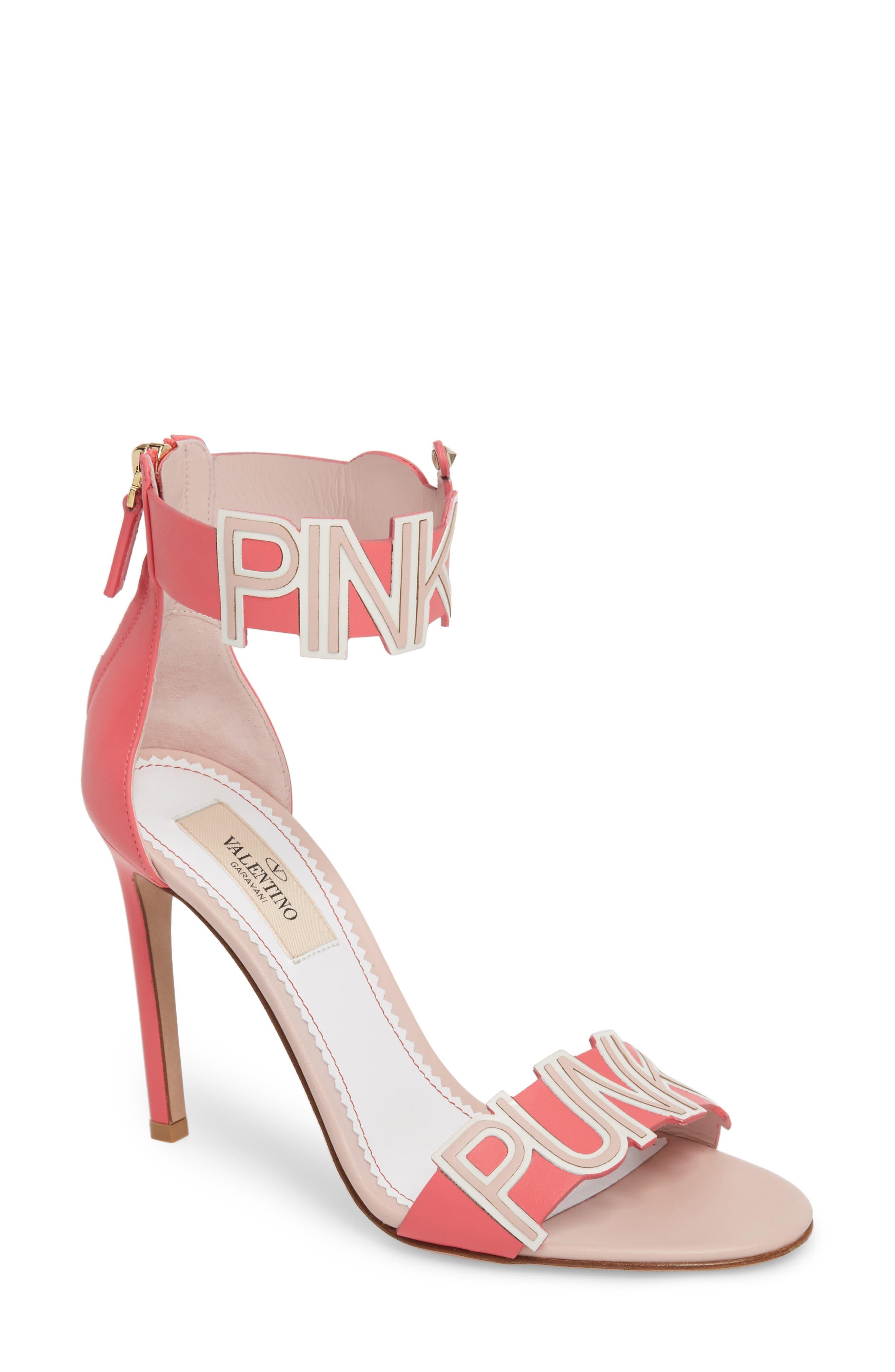 VALENTINO GARAVANI Pink Is Punk Ankle Strap Sandal (Women)