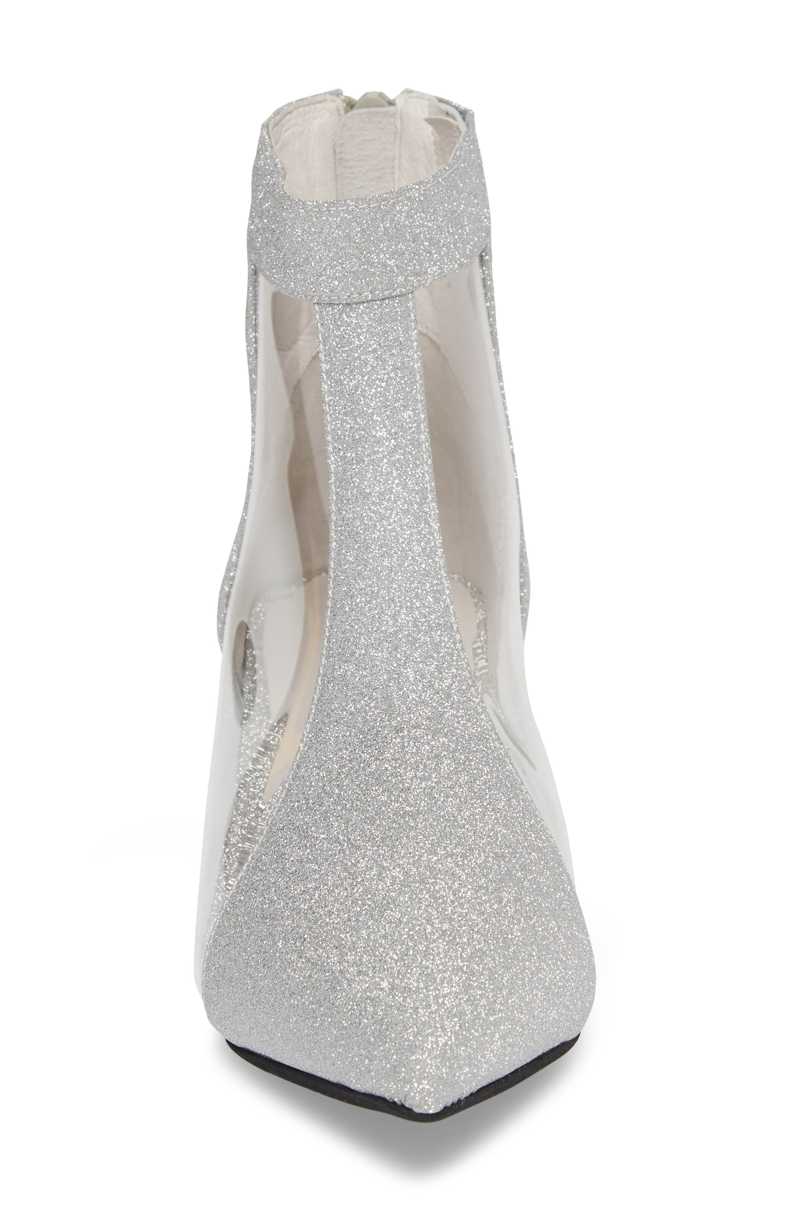 Mistress Bootie,                             Alternate thumbnail 4, color,                             Silver Glitter Leather