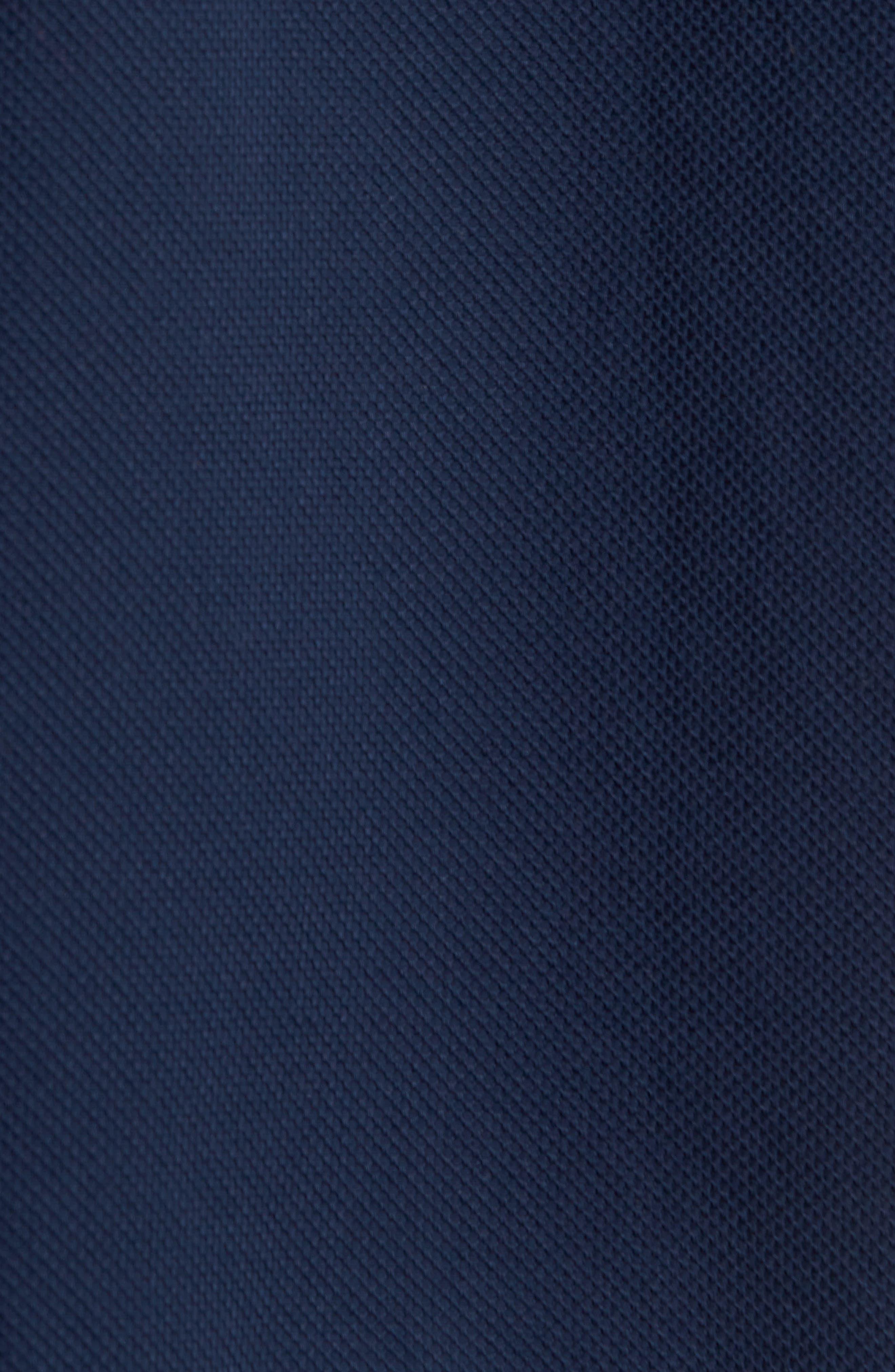 Woven Piqué Shirt,                             Alternate thumbnail 5, color,                             Carbon Blue