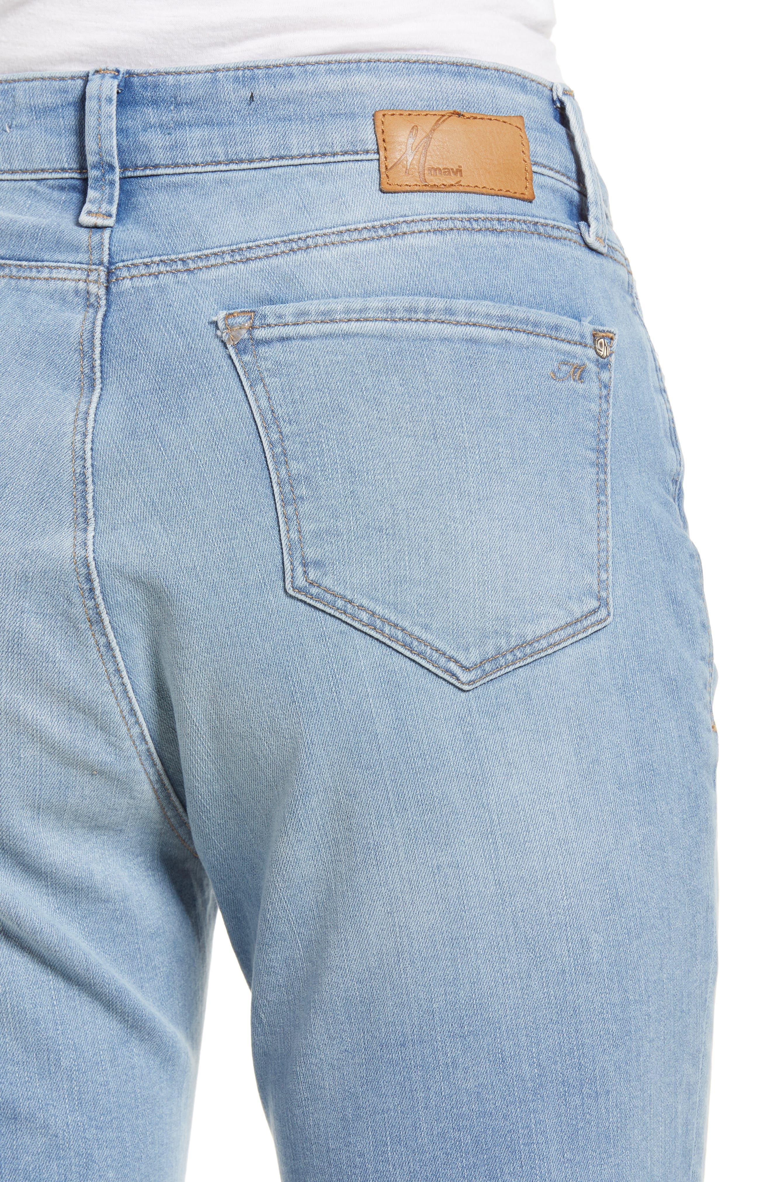 Lea Boyfriend Ripped Jeans,                             Alternate thumbnail 4, color,                             Light Ripped Vintage