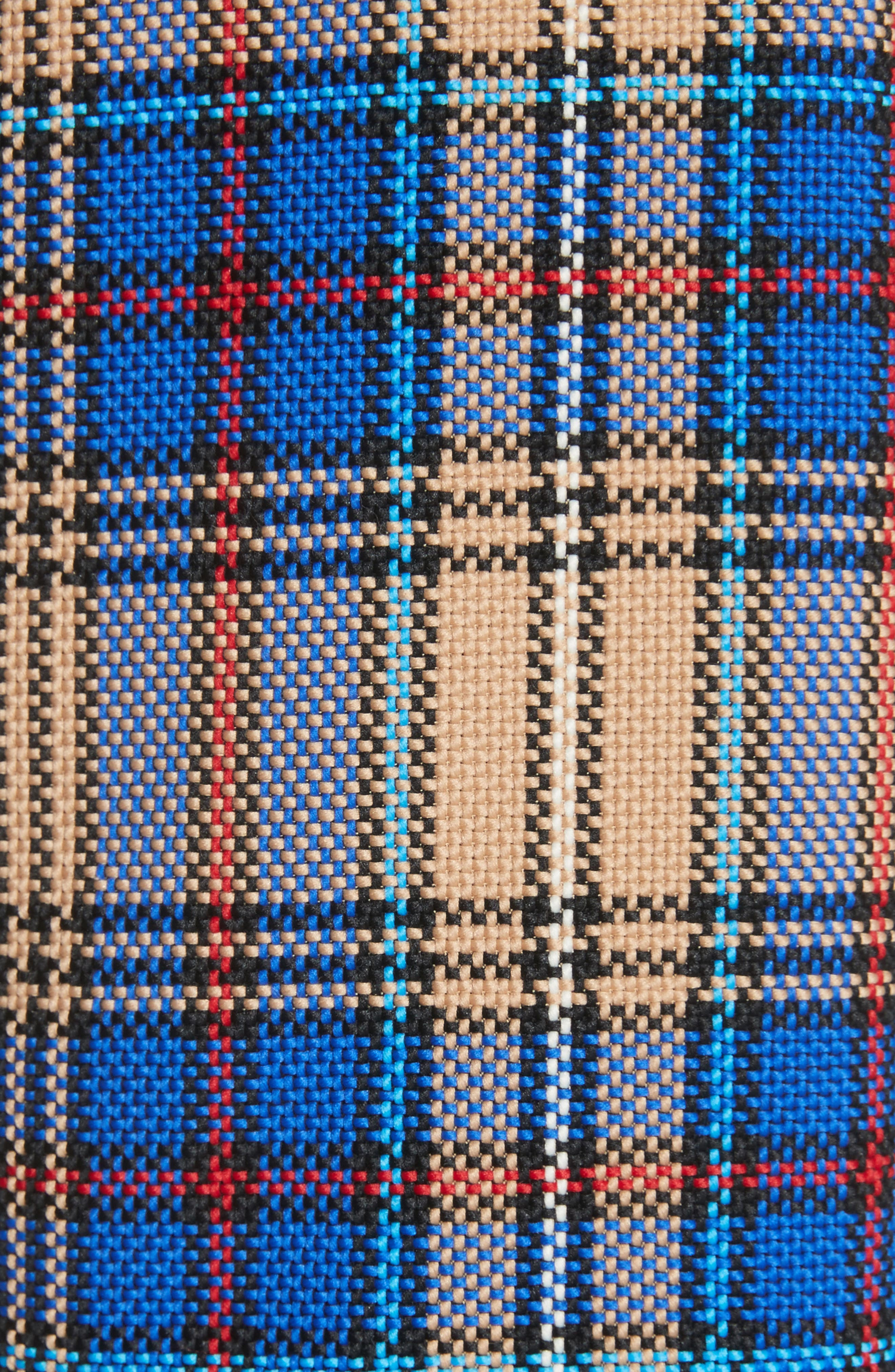 Ace Plaid Trench Coat,                             Alternate thumbnail 5, color,                             Blue Plaid