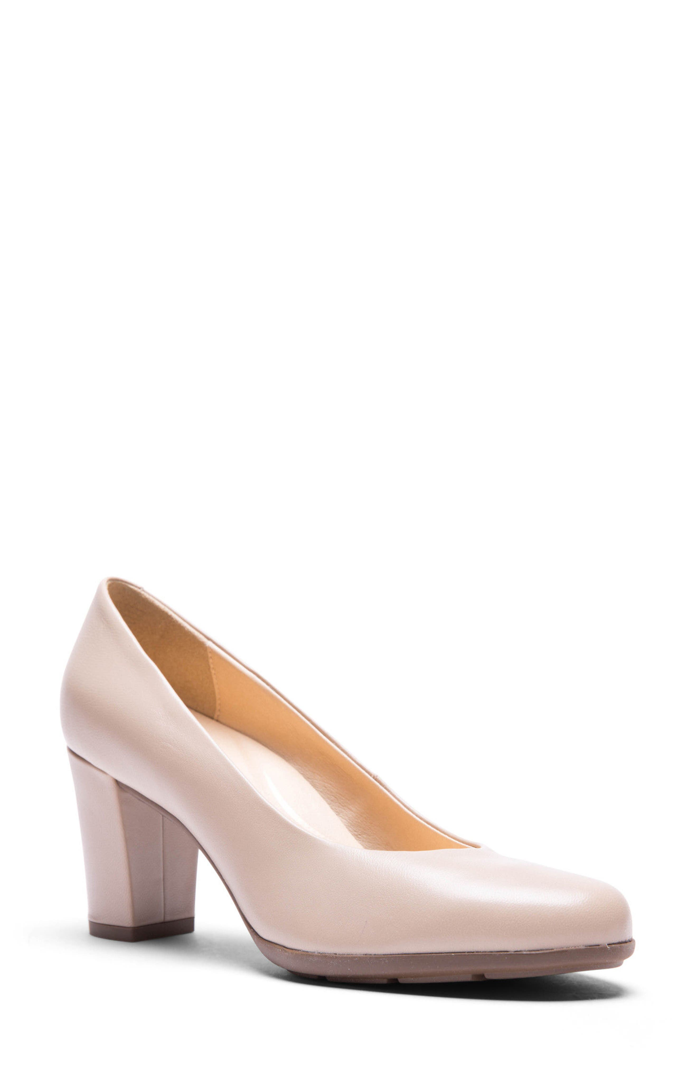 Annya Pump,                         Main,                         color, Beige Leather