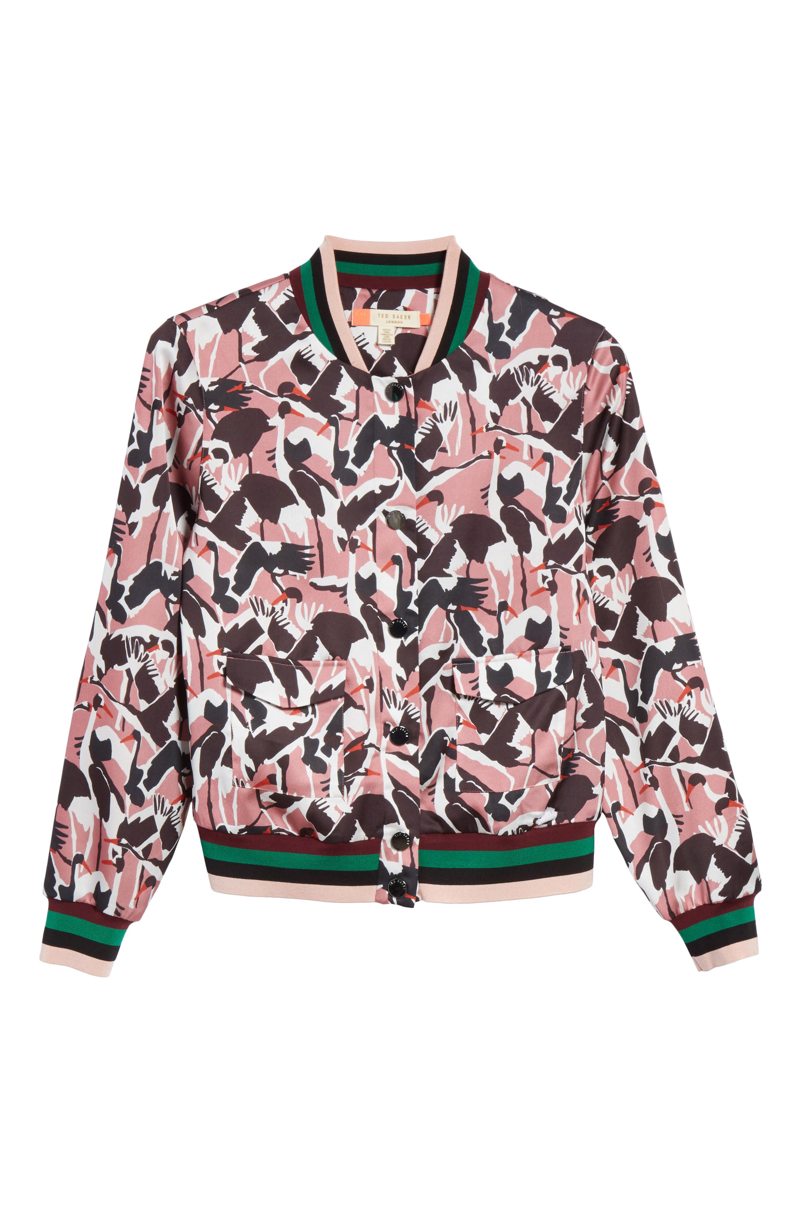 Colour by Numbers Oosel Bomber Jacket,                             Alternate thumbnail 7, color,                             Dusky Pink