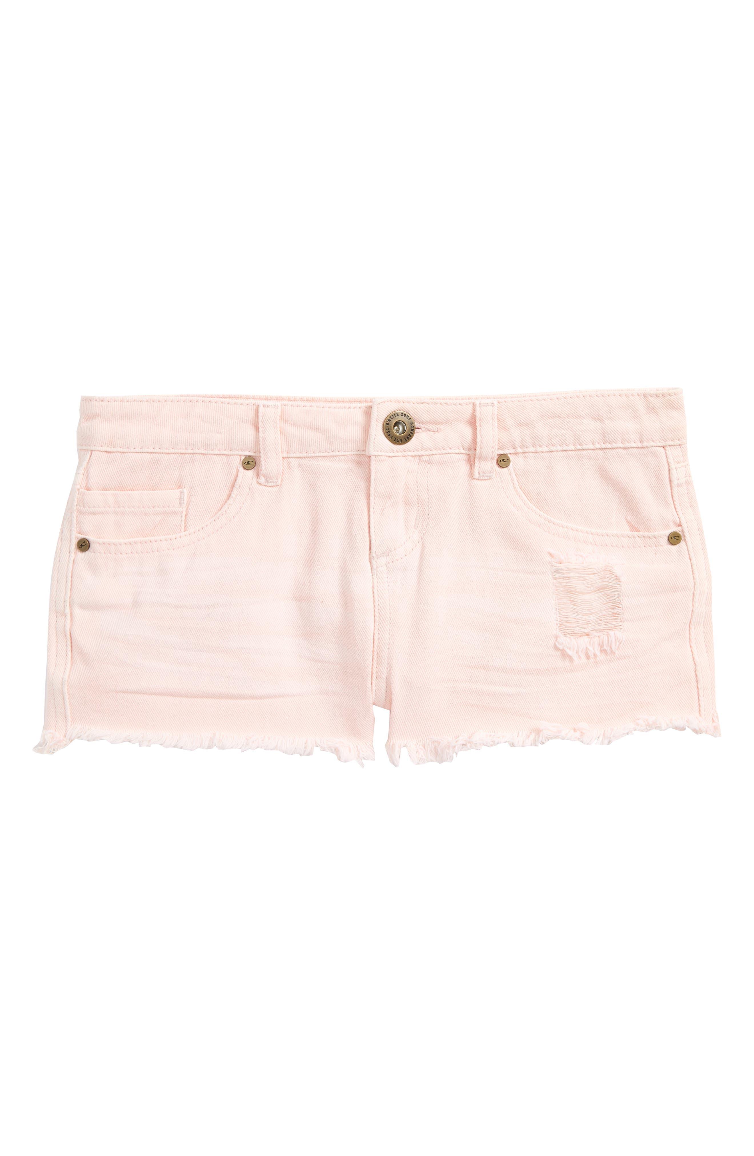 Islas Denim Shorts,                             Main thumbnail 1, color,                             Pastel Lavender