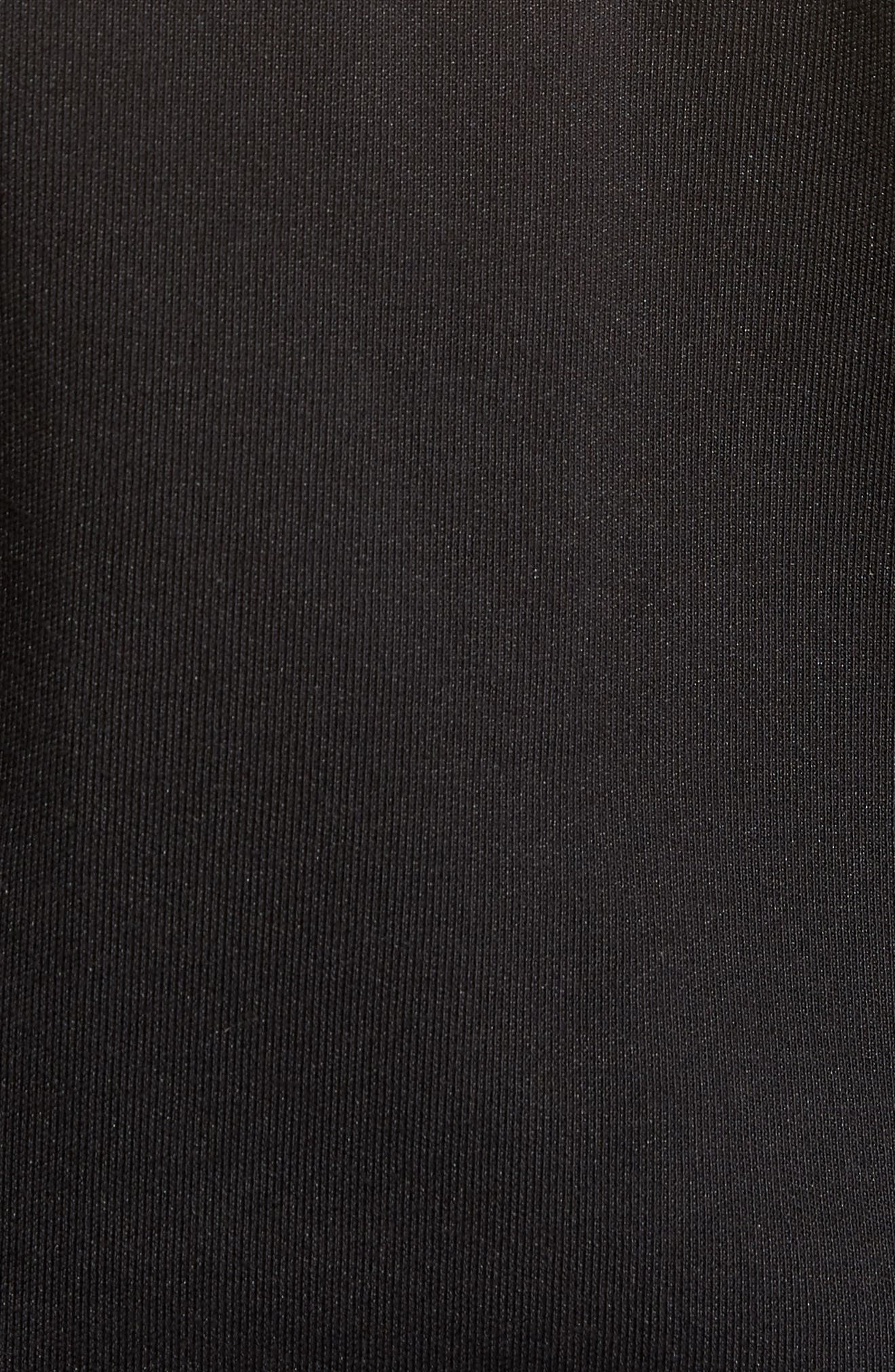 Embroidered Panel Quarter Zip Pullover,                             Alternate thumbnail 5, color,                             Black