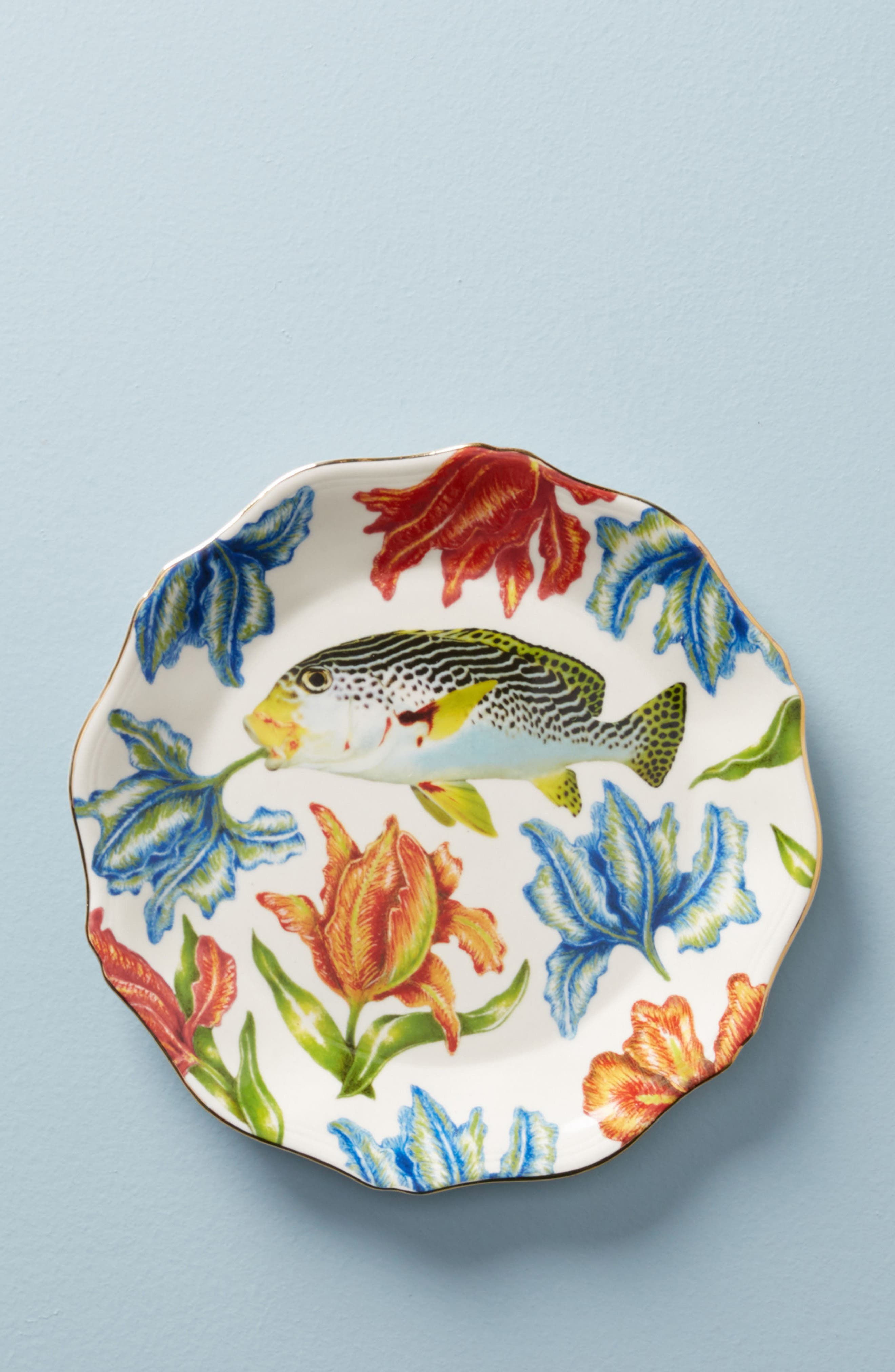 Nature Table Dessert Plate,                         Main,                         color, Fish