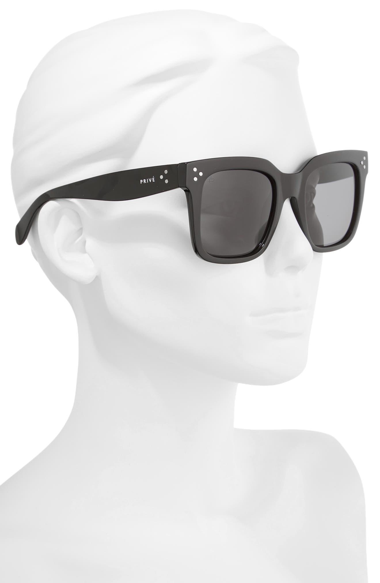 Privé Revaux The Heroine 53mm Sunglasses,                             Alternate thumbnail 2, color,                             Black