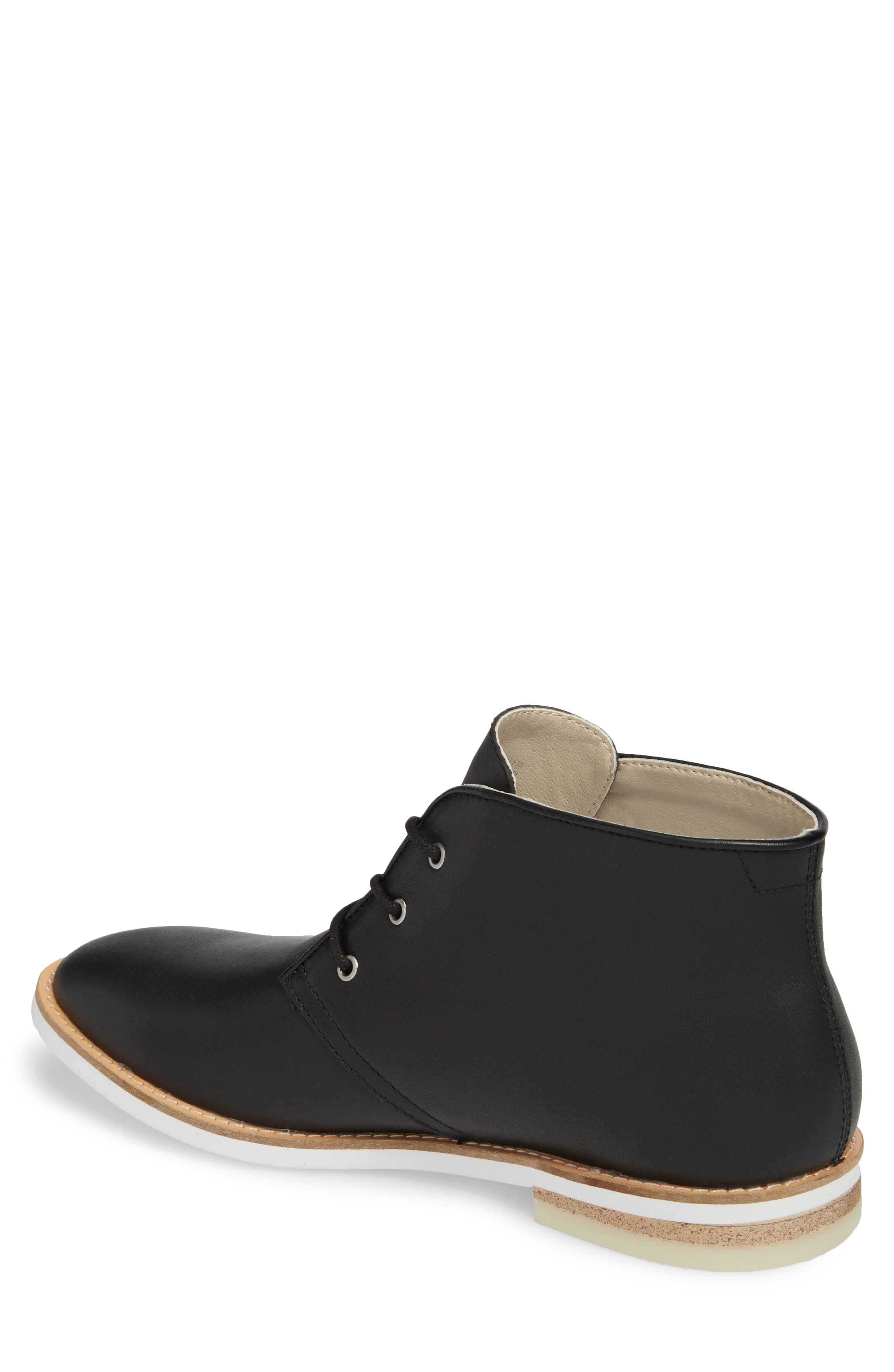 Albe Chukka Boot,                             Alternate thumbnail 2, color,                             Black Leather