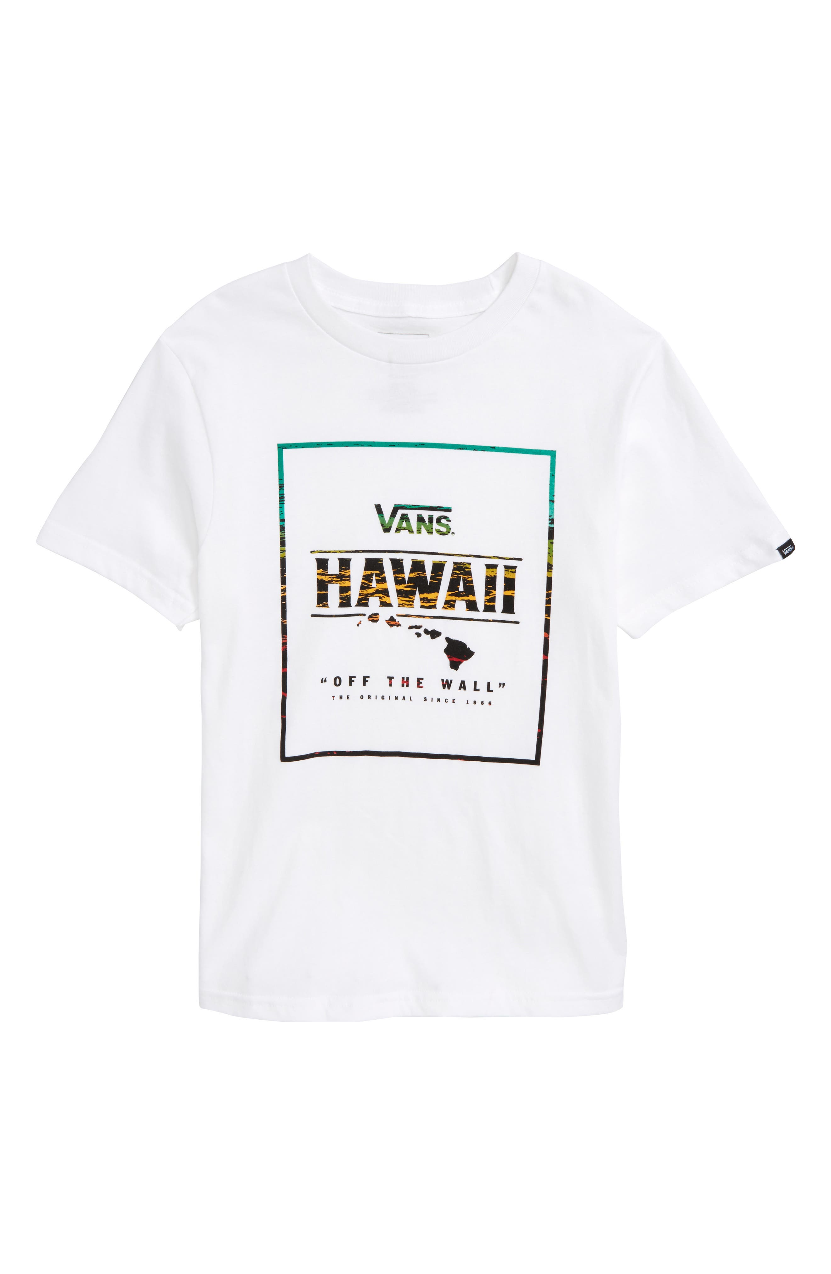 Hawaii Mauka Graphic T-Shirt,                             Main thumbnail 1, color,                             White/ Rasta