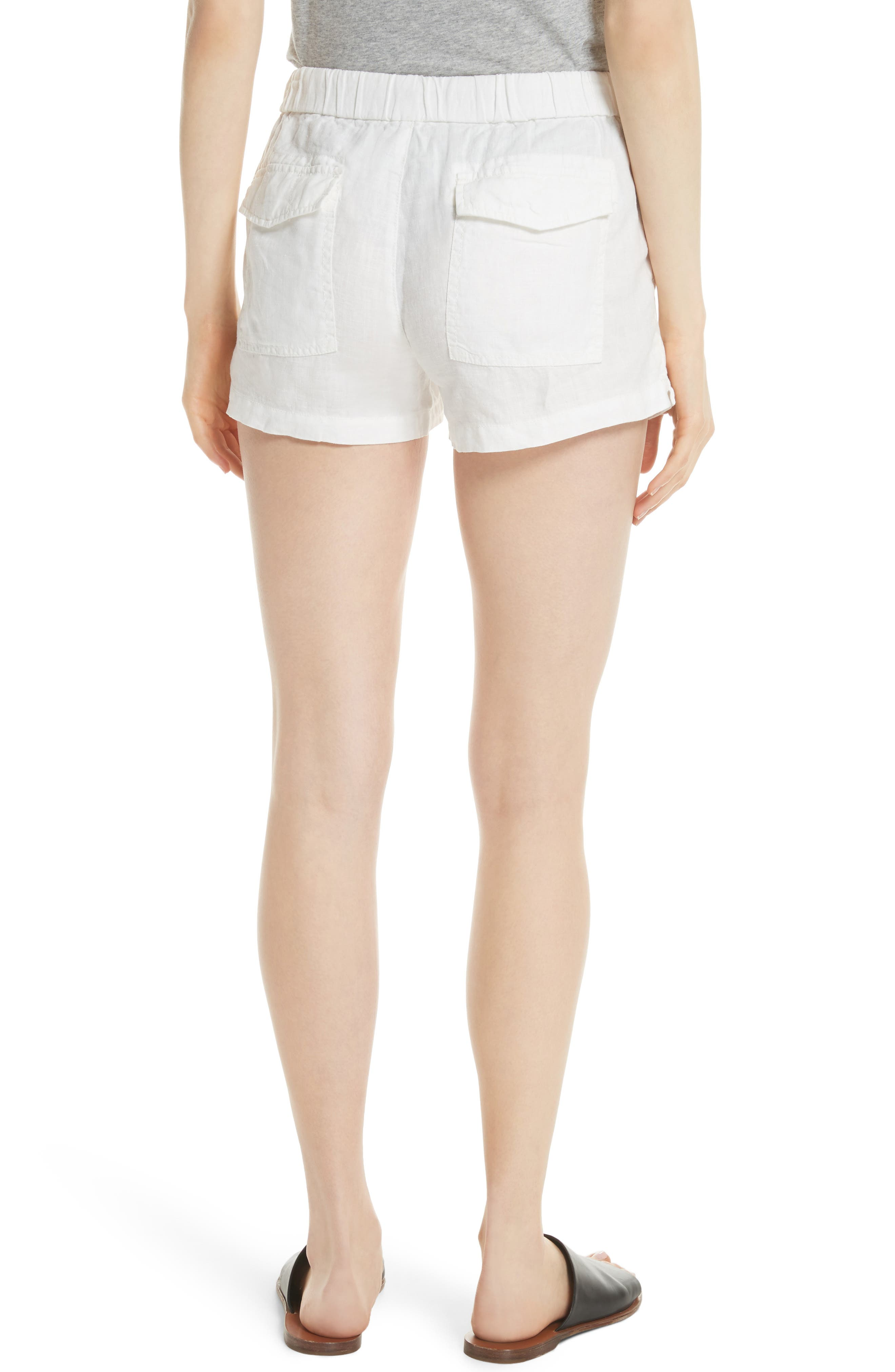 Fosette Linen Drawstring Shorts,                             Alternate thumbnail 2, color,                             Porcelain