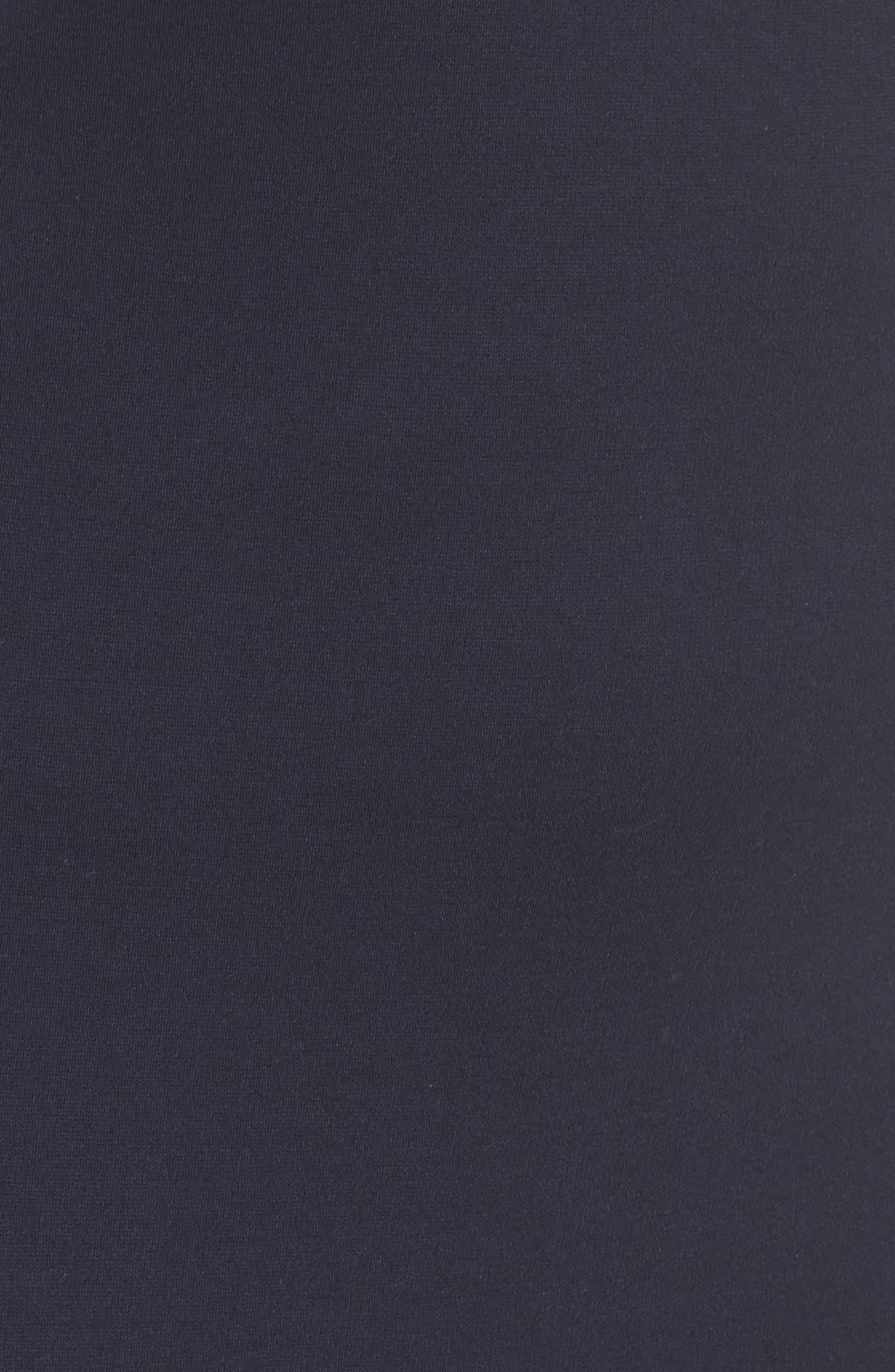 Ruffle Hem Sheath Dress,                             Alternate thumbnail 5, color,                             Navy Sapphire