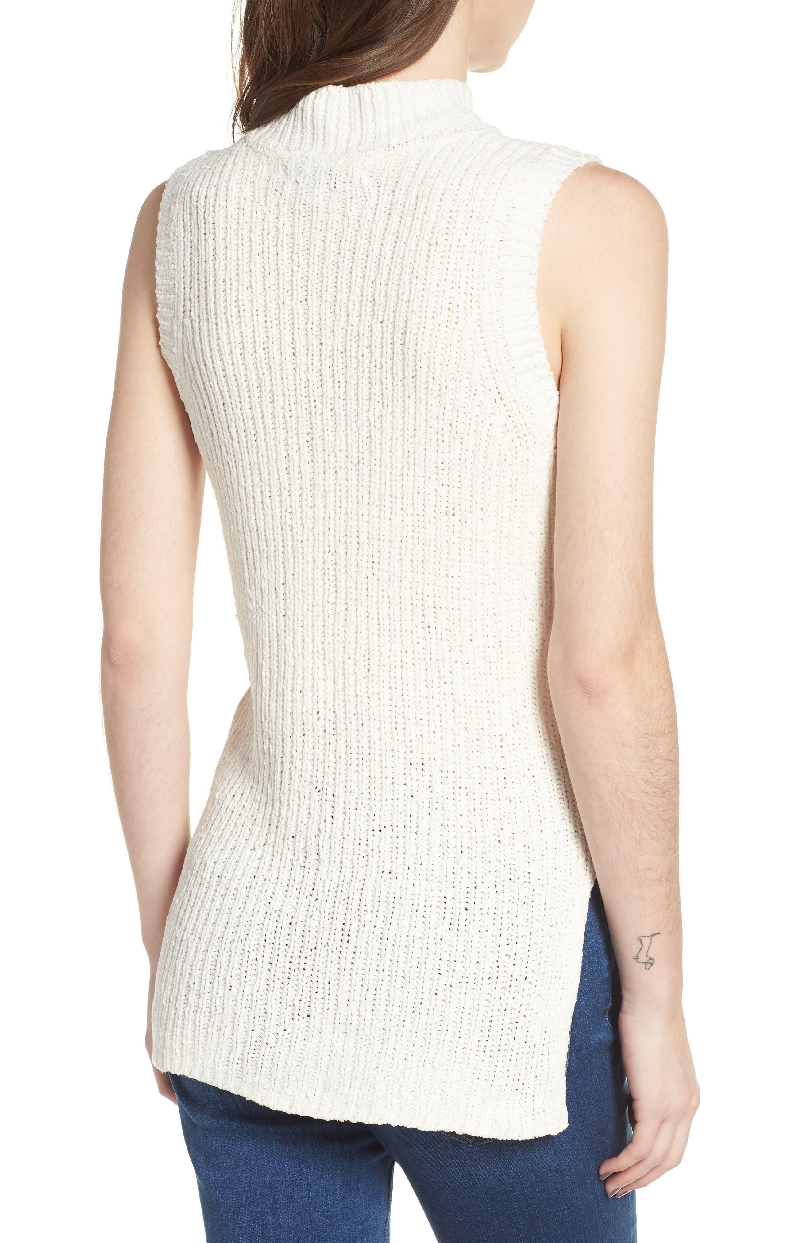 Camdon Sleeveless Sweater,                             Alternate thumbnail 2, color,                             Ivory