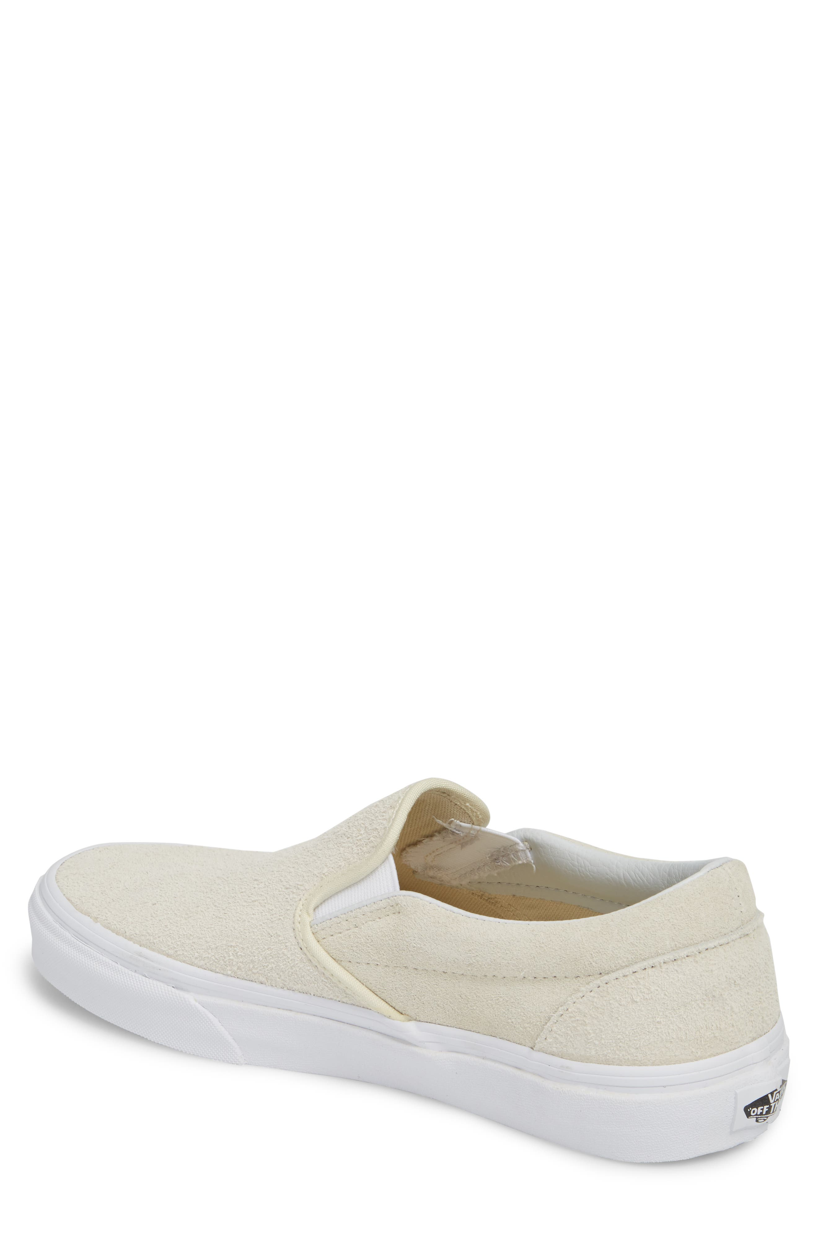 Classic Hairy Suede Slip-On Sneaker,                             Alternate thumbnail 2, color,                             Turtledove Leather