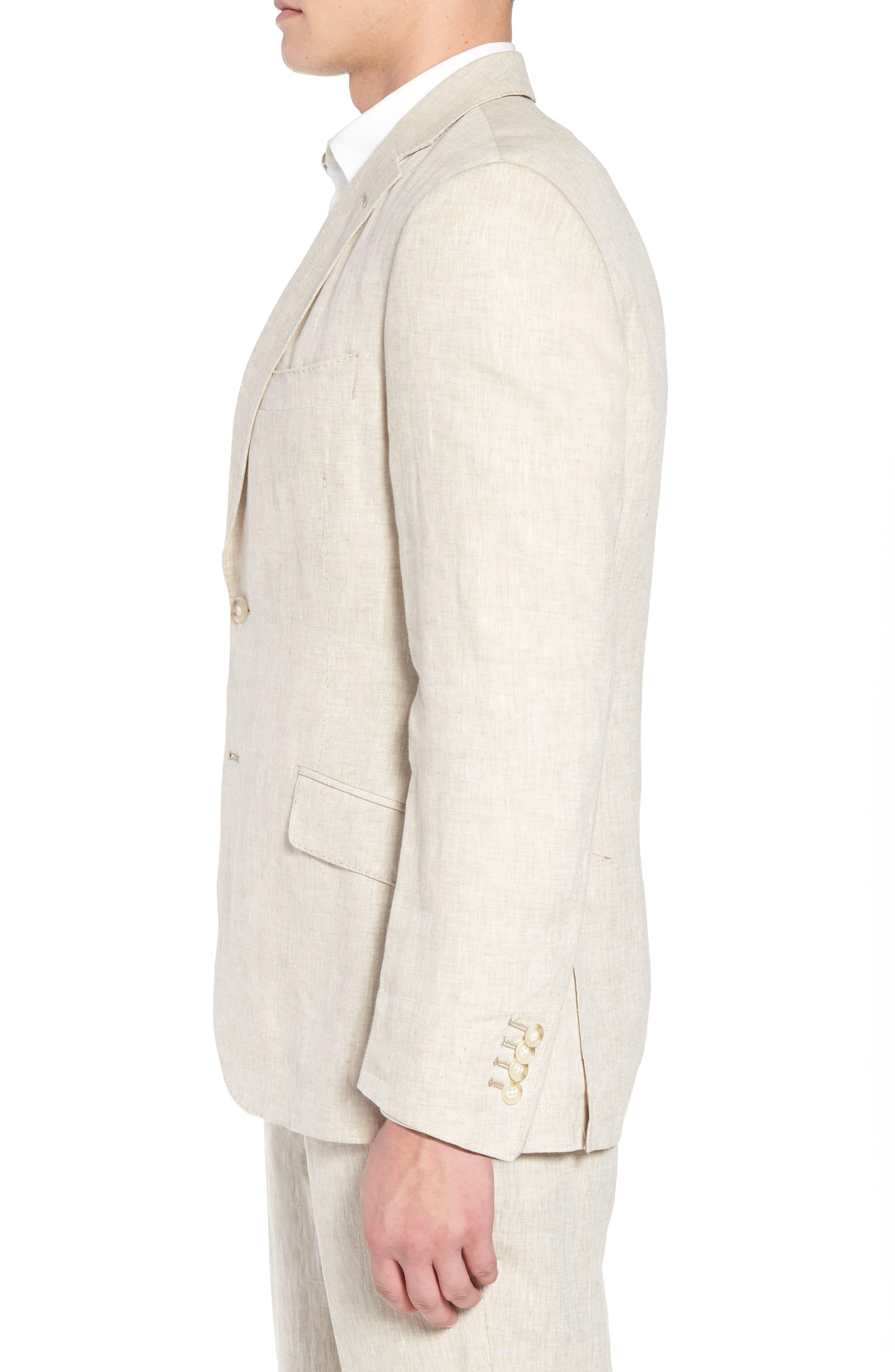Jack AIM Classic Fit Linen Blazer,                             Alternate thumbnail 3, color,                             Natural
