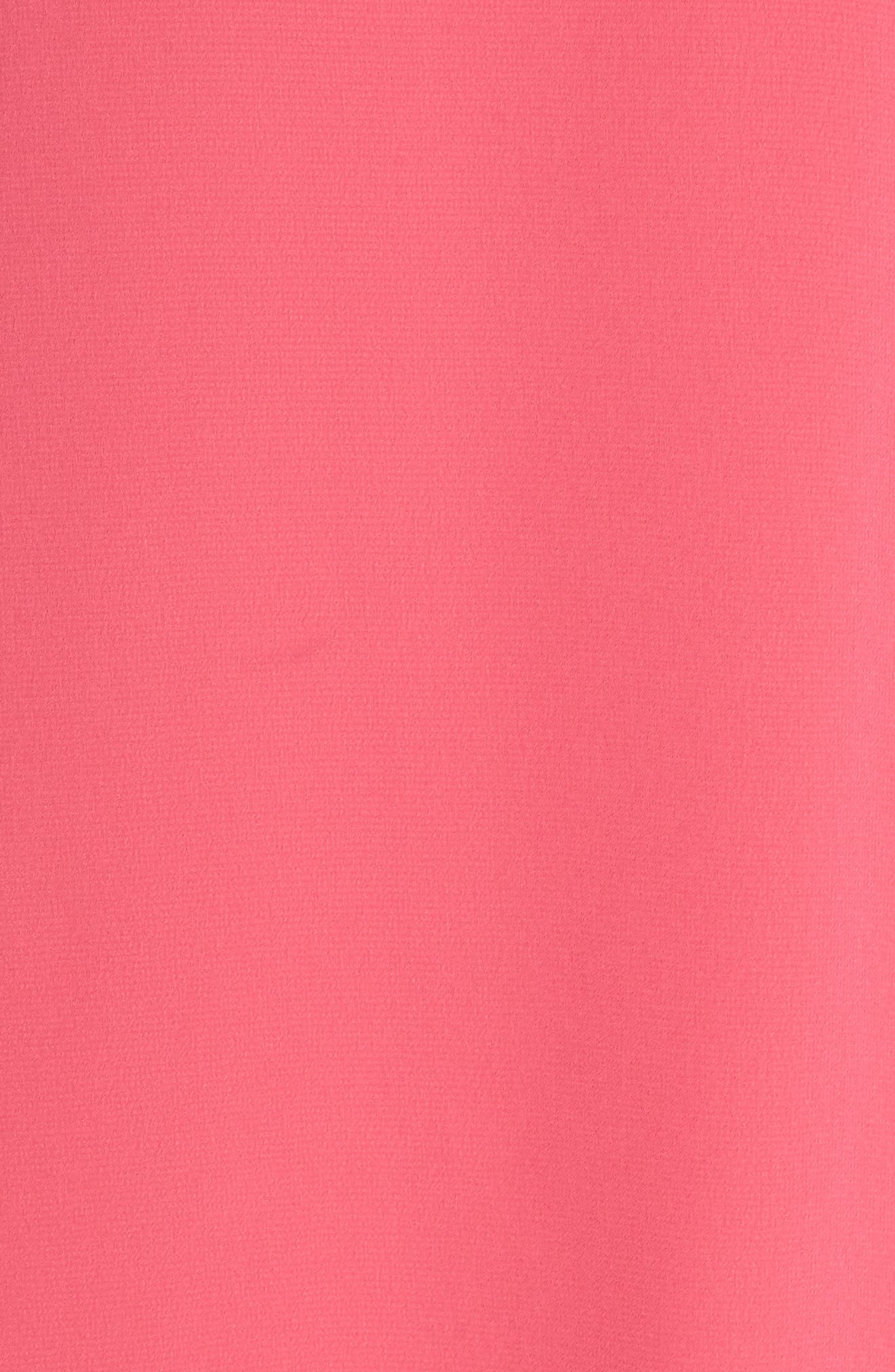 Off the Shoulder Tie-Cuff Shift Dress,                             Alternate thumbnail 6, color,                             Hot Pink