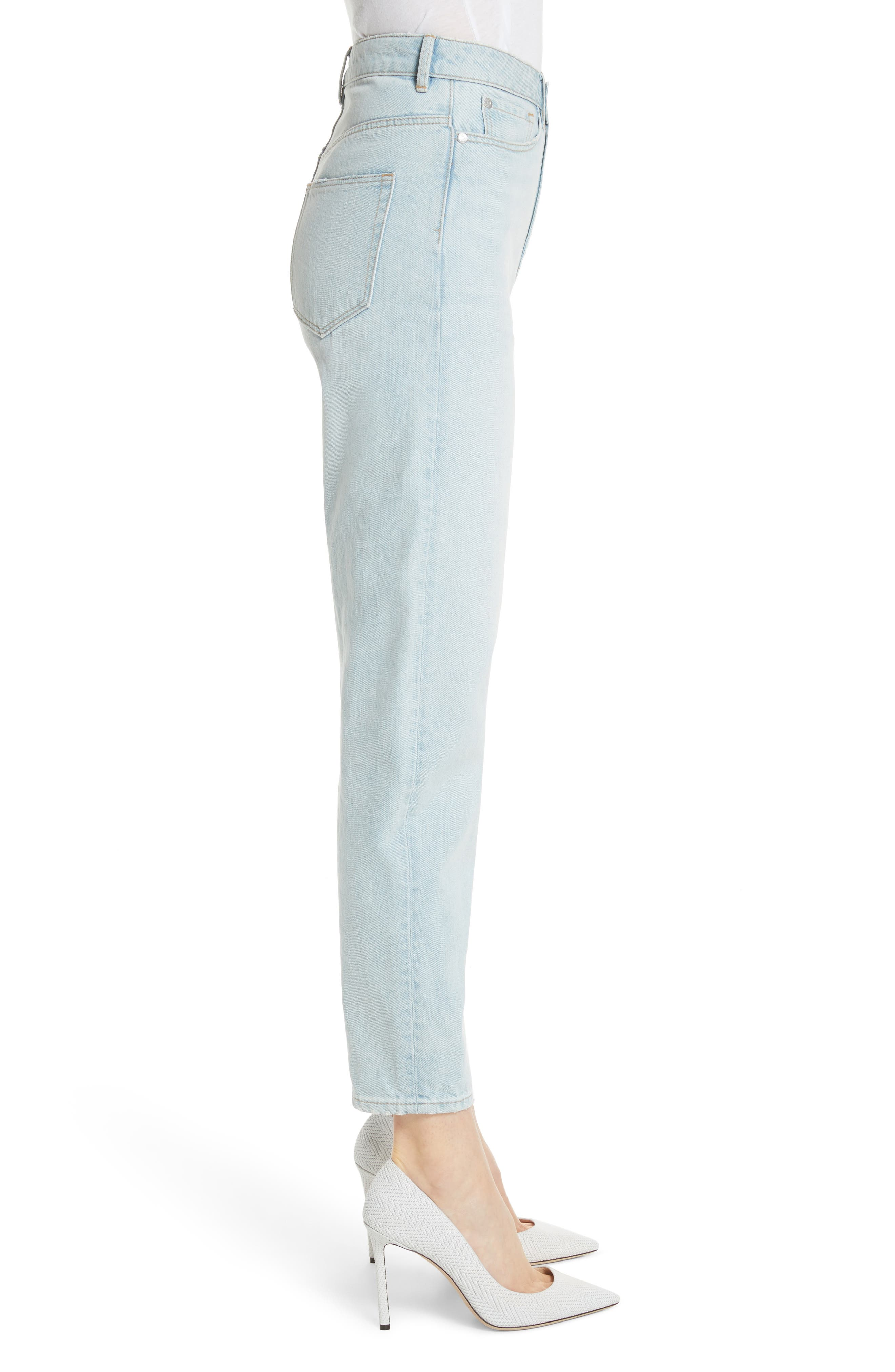 Tapered Jeans,                             Alternate thumbnail 3, color,                             Pale Blue Wash