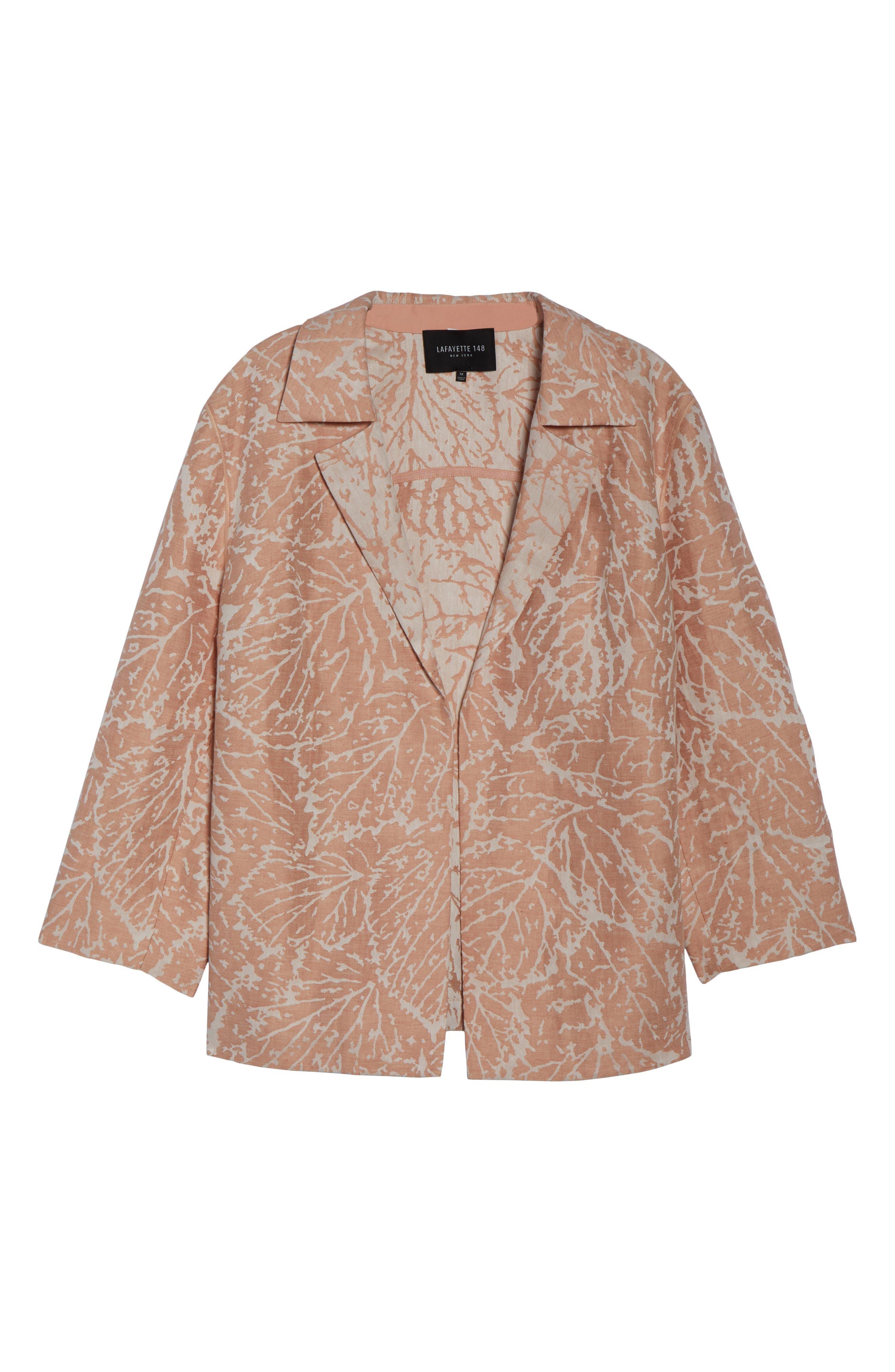 Phillipe Linen Jacket,                             Alternate thumbnail 6, color,                             Rose Quartz Multi