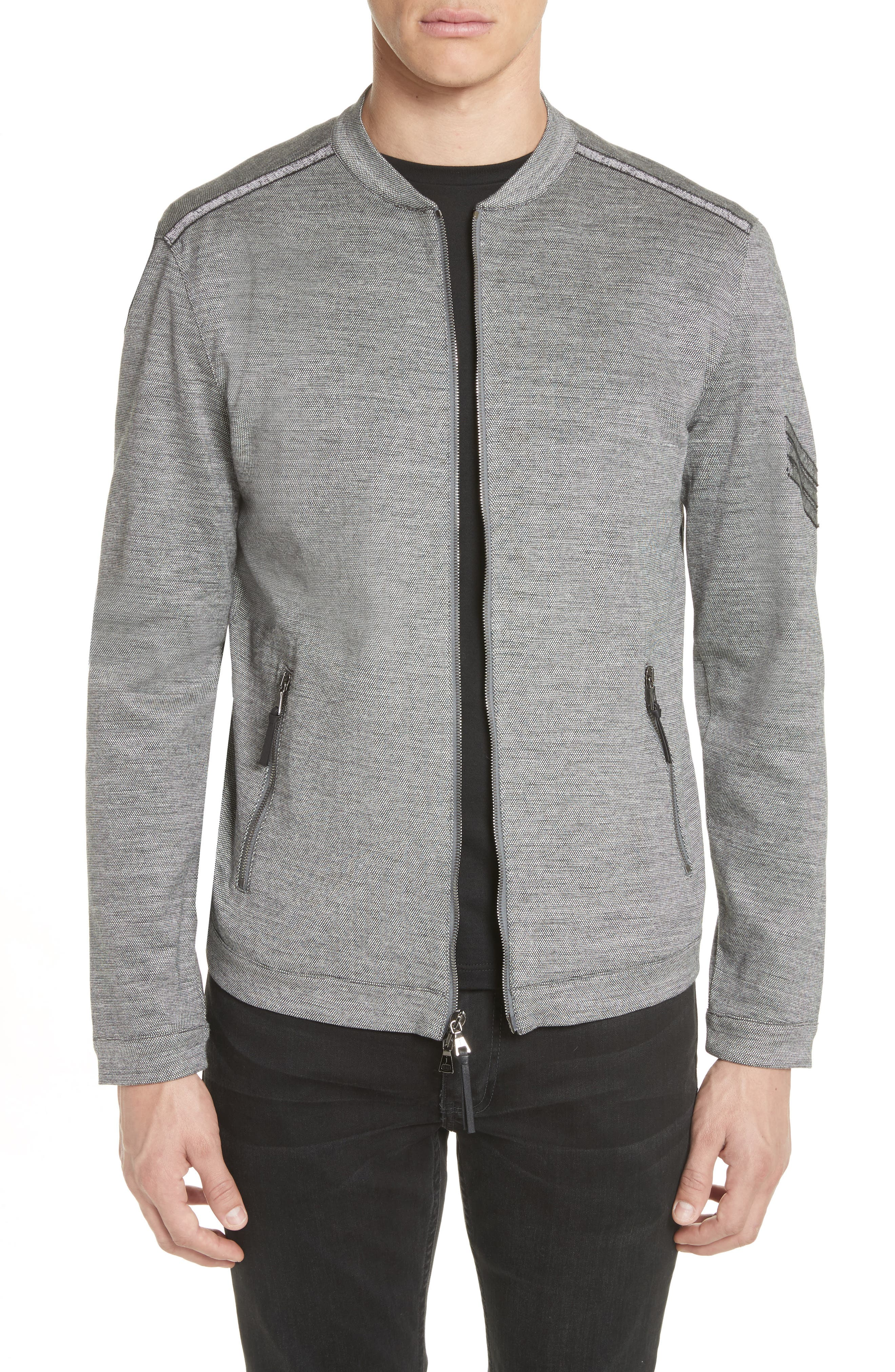 John Varvatos Collection Zip Baseball Jacket