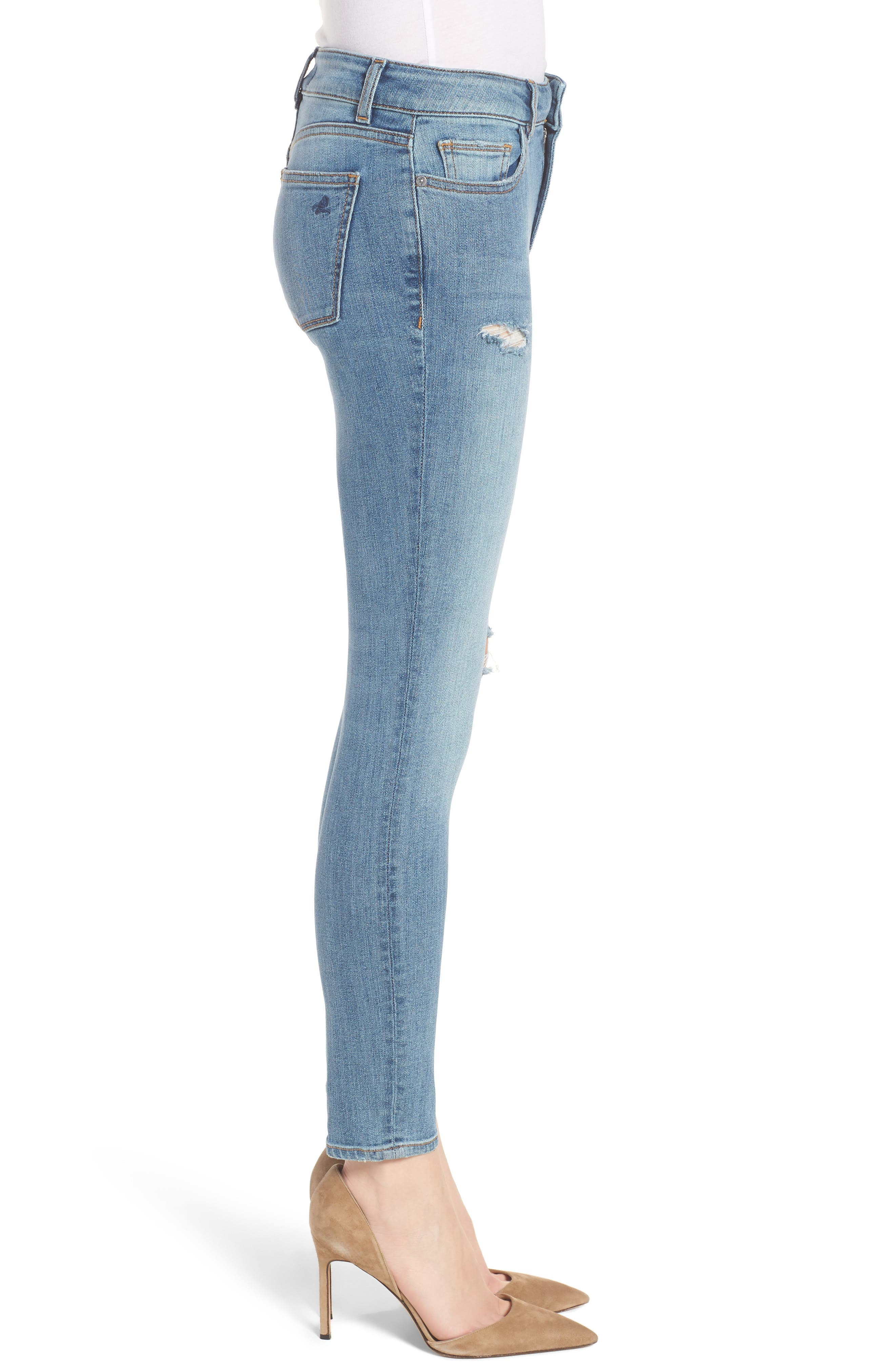 Margaux Instasculpt Ankle Skinny Jeans,                             Alternate thumbnail 3, color,                             Quincy