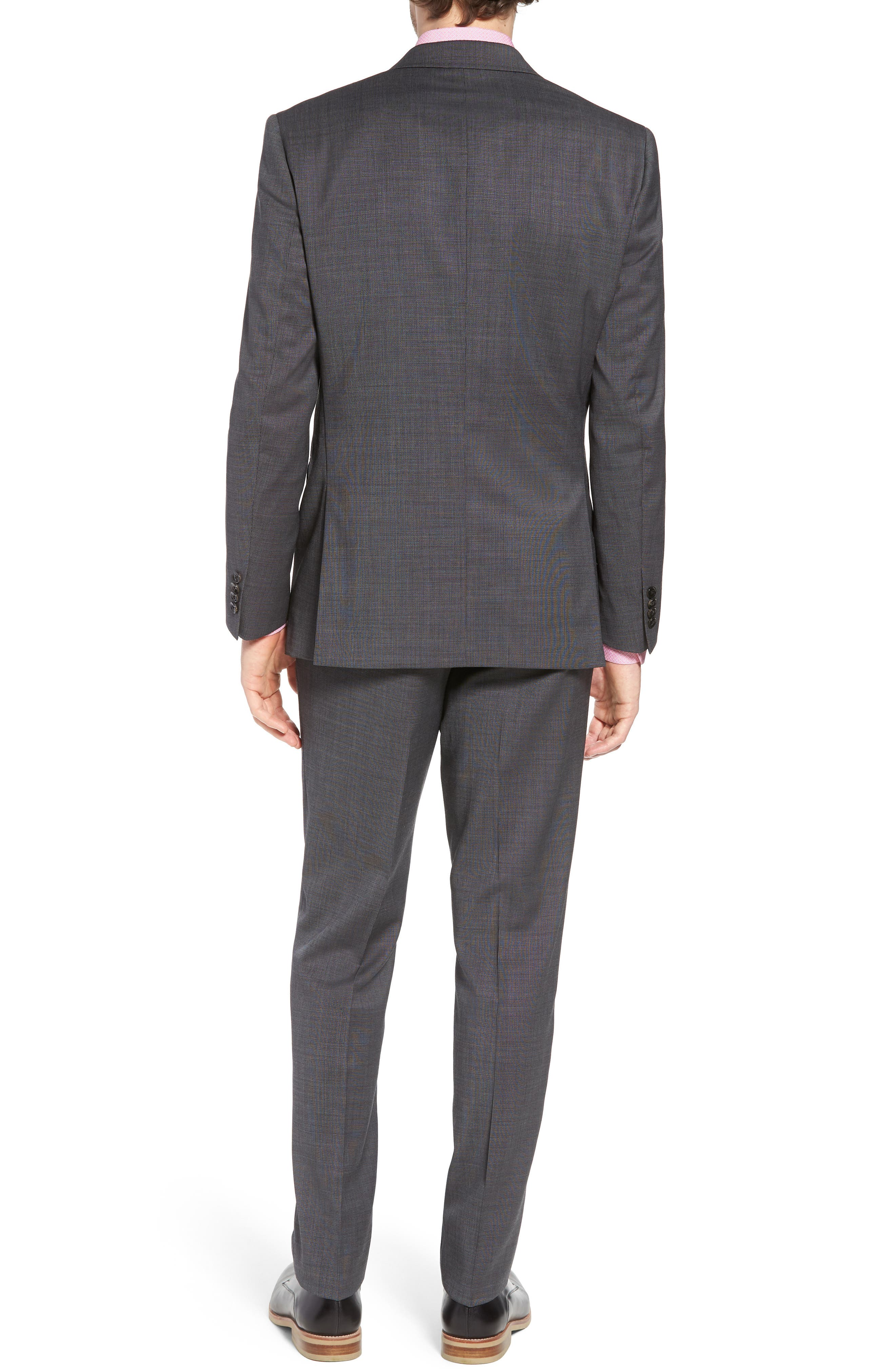 Jay Trim Fit Solid Wool Suit,                             Alternate thumbnail 2, color,                             Grey