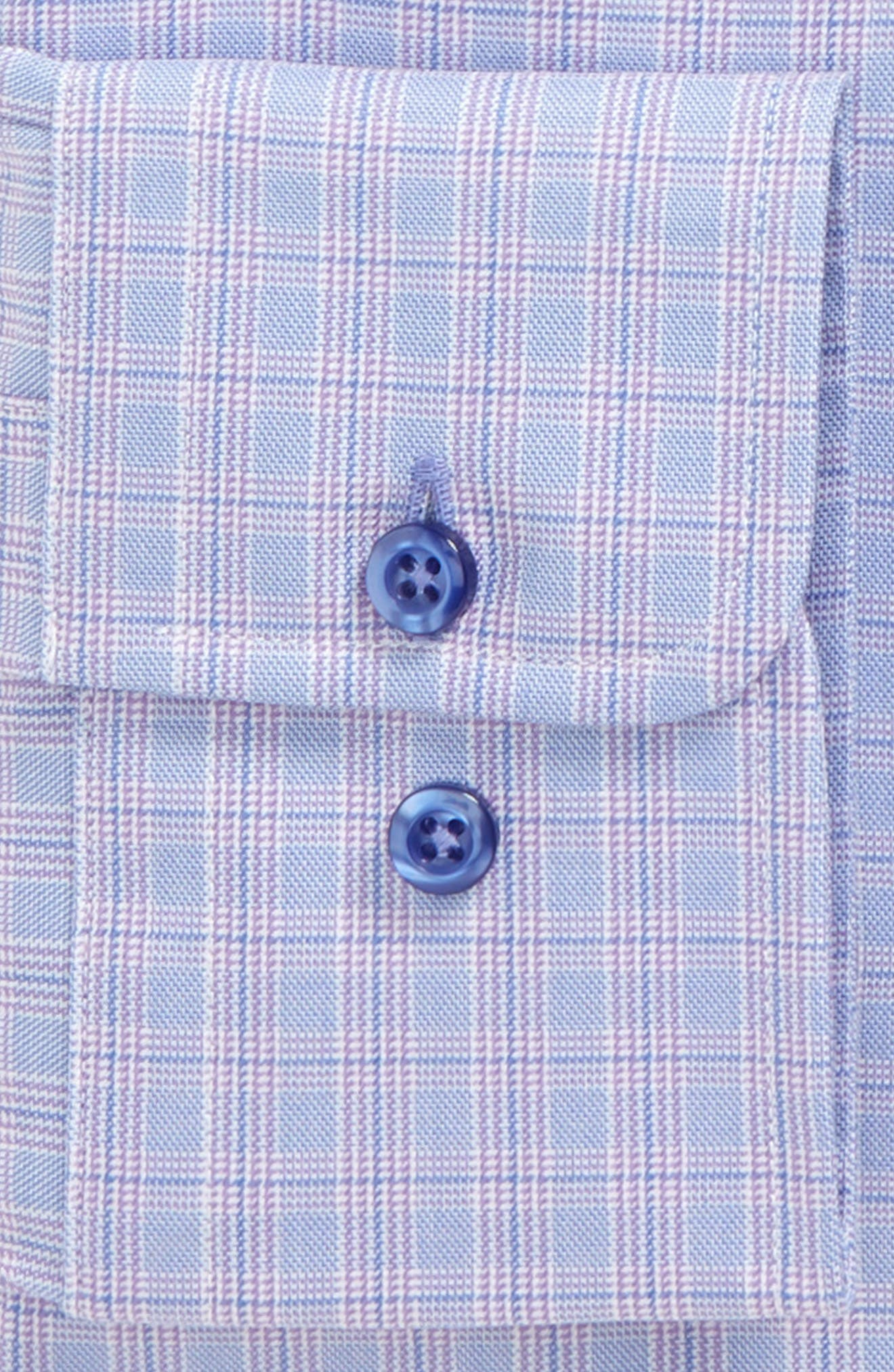 Regular Fit Plaid Dress Shirt,                             Alternate thumbnail 2, color,                             Lilac