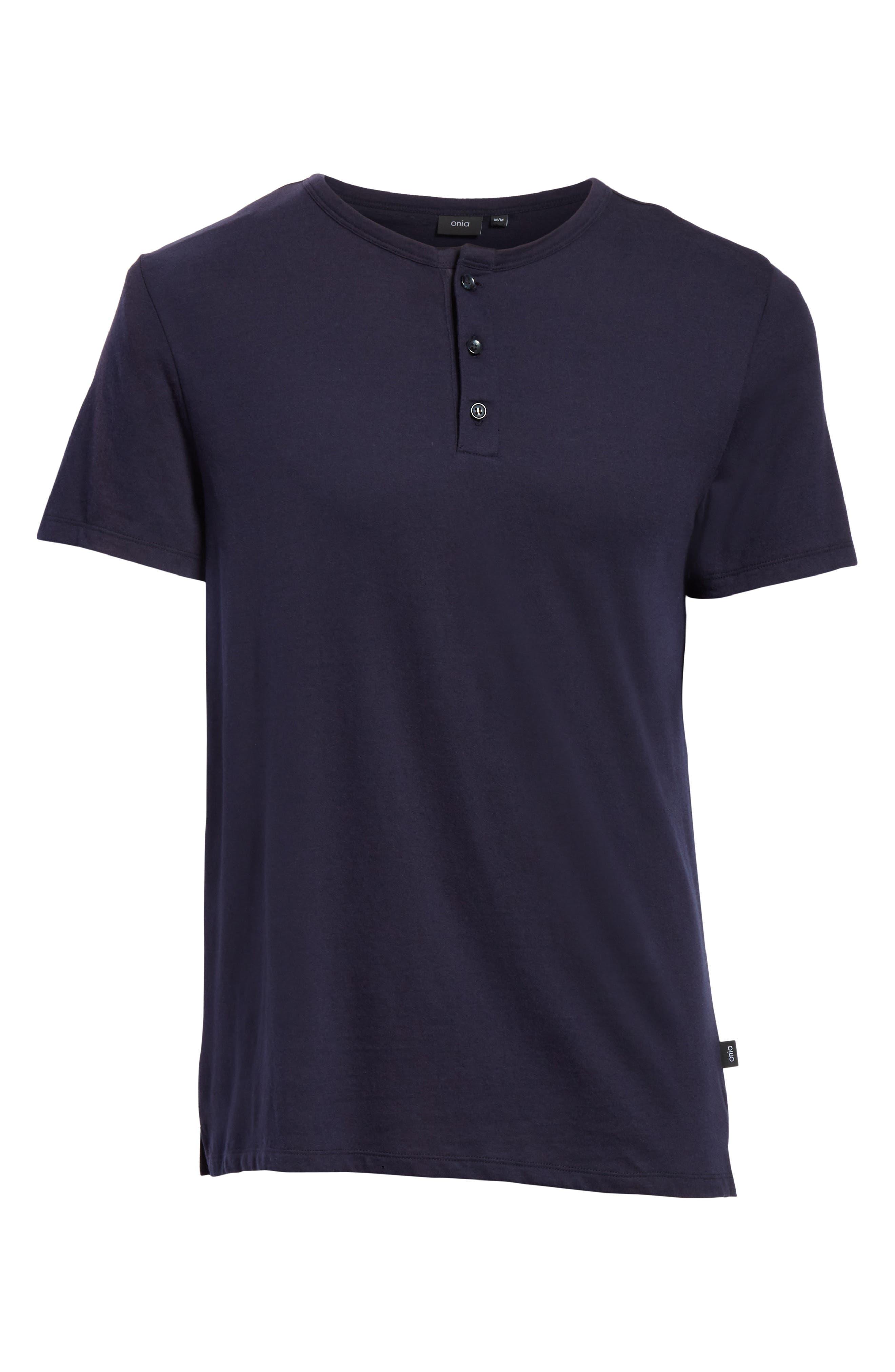 Elliott Henley T-Shirt,                             Alternate thumbnail 6, color,                             Deep Navy