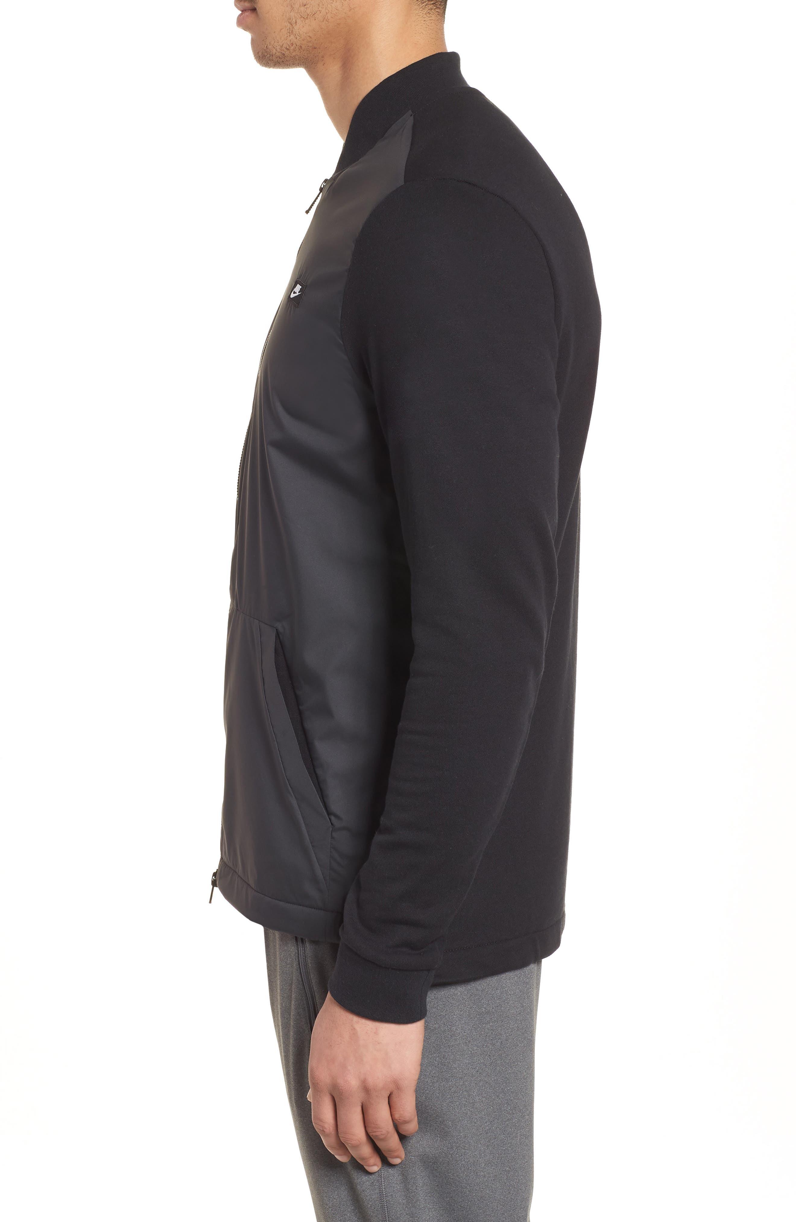 NSW Modern Track Jacket,                             Alternate thumbnail 4, color,                             Black/ Black