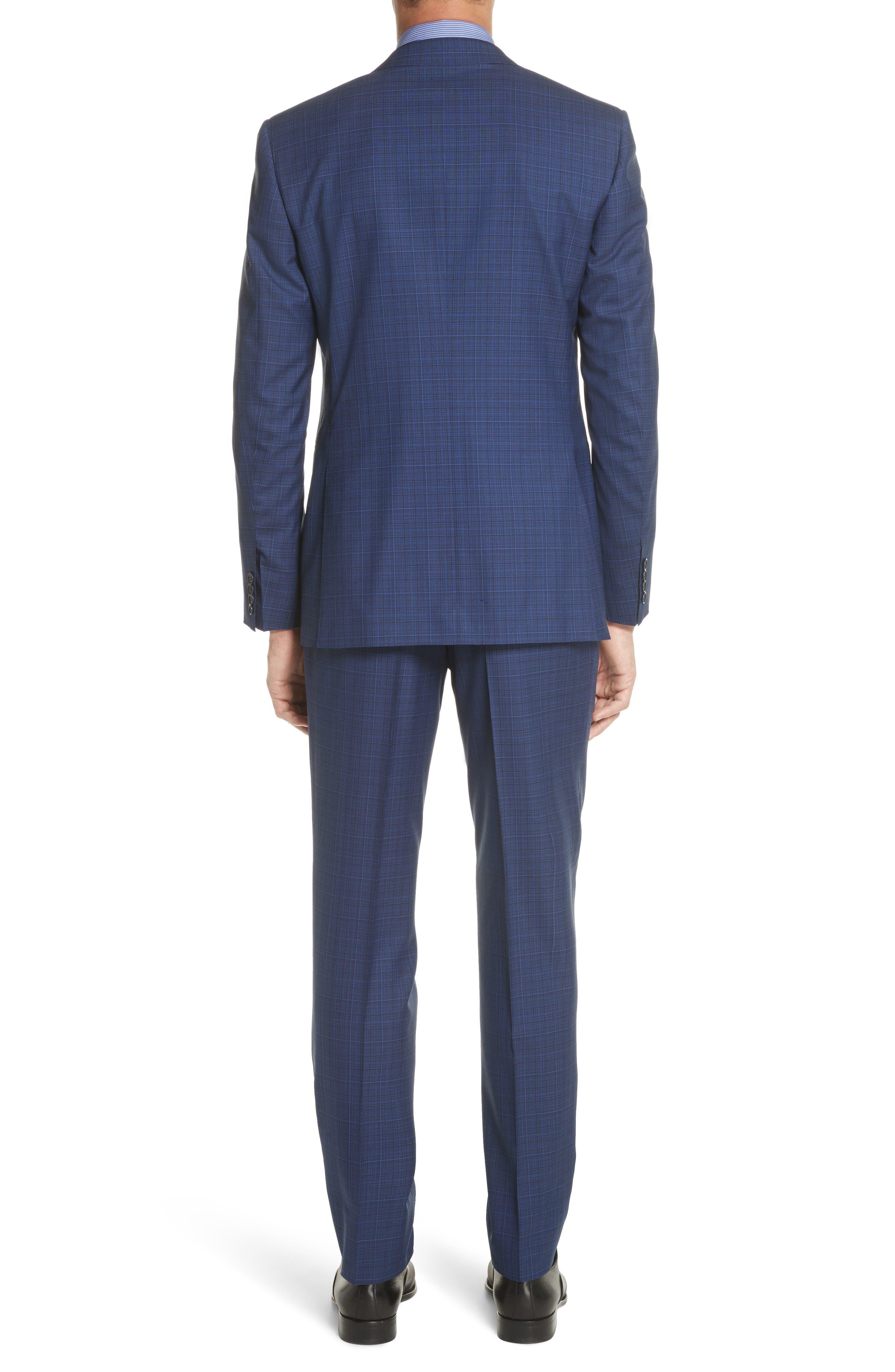 Classic Fit Tonal Plaid Wool Suit,                             Alternate thumbnail 2, color,                             Blue