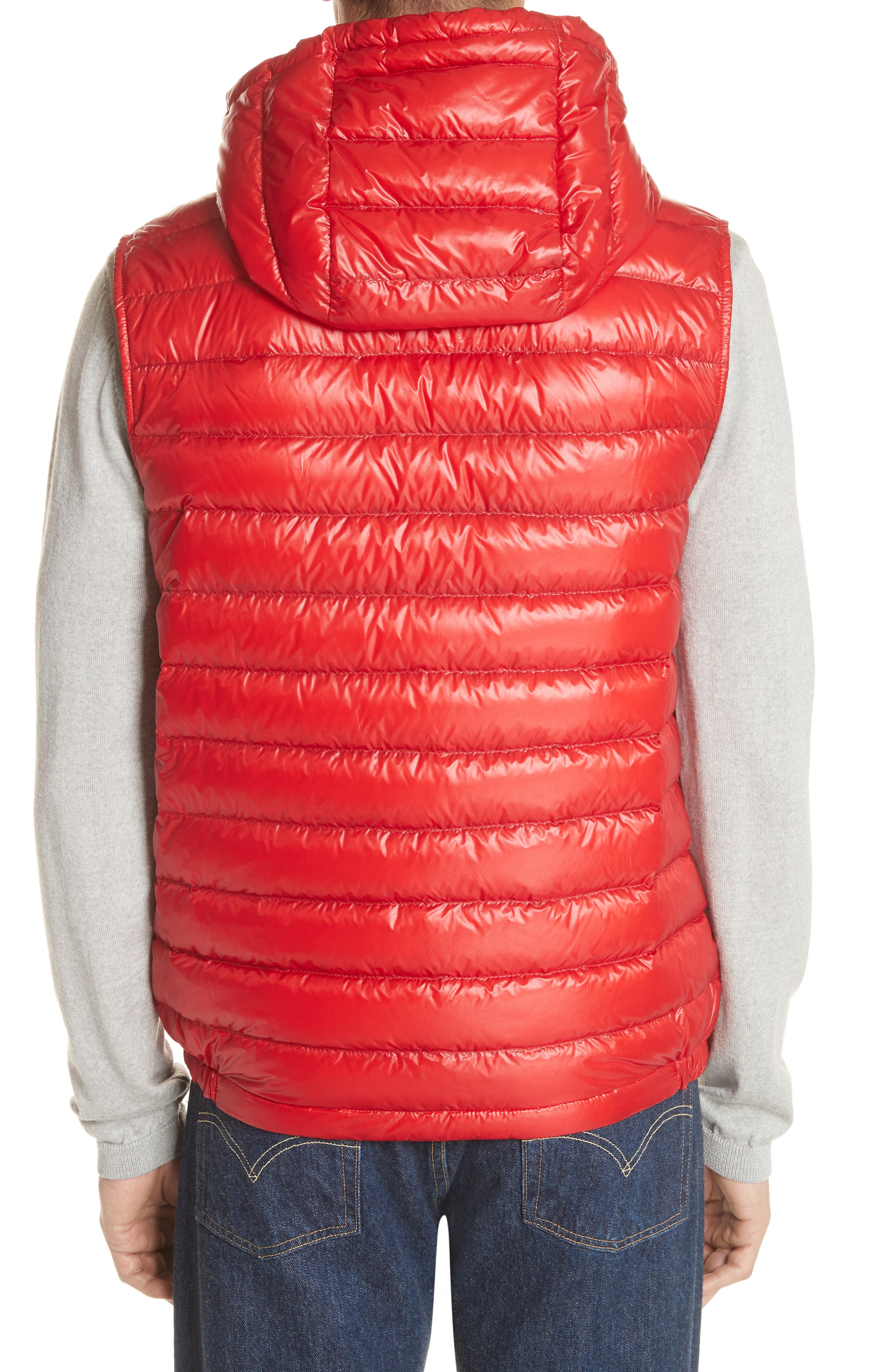 Gien Down Hooded Vest,                             Alternate thumbnail 2, color,                             Dark Red